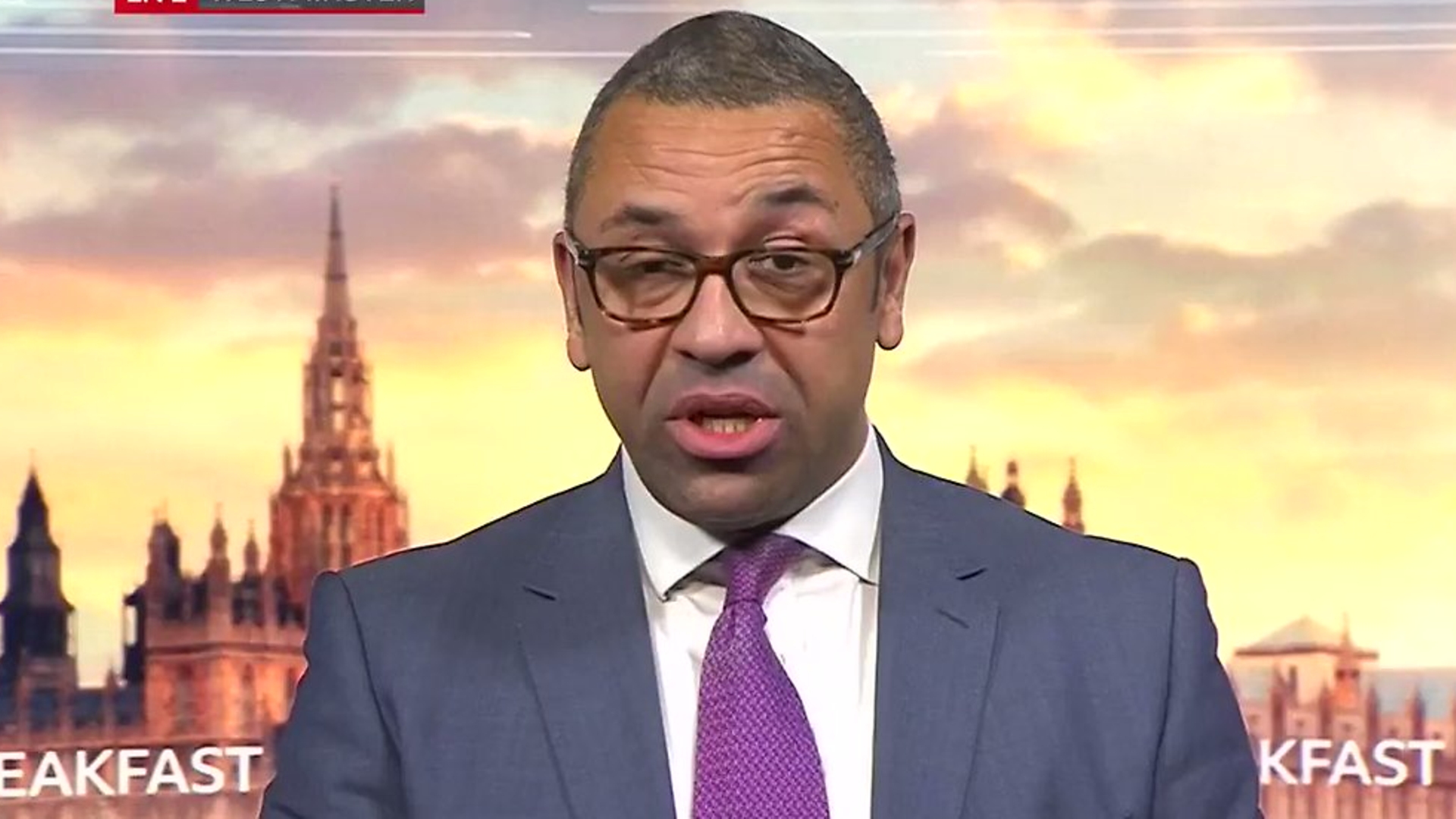 James Cleverly on BBC Breakfast - Credit: BBC