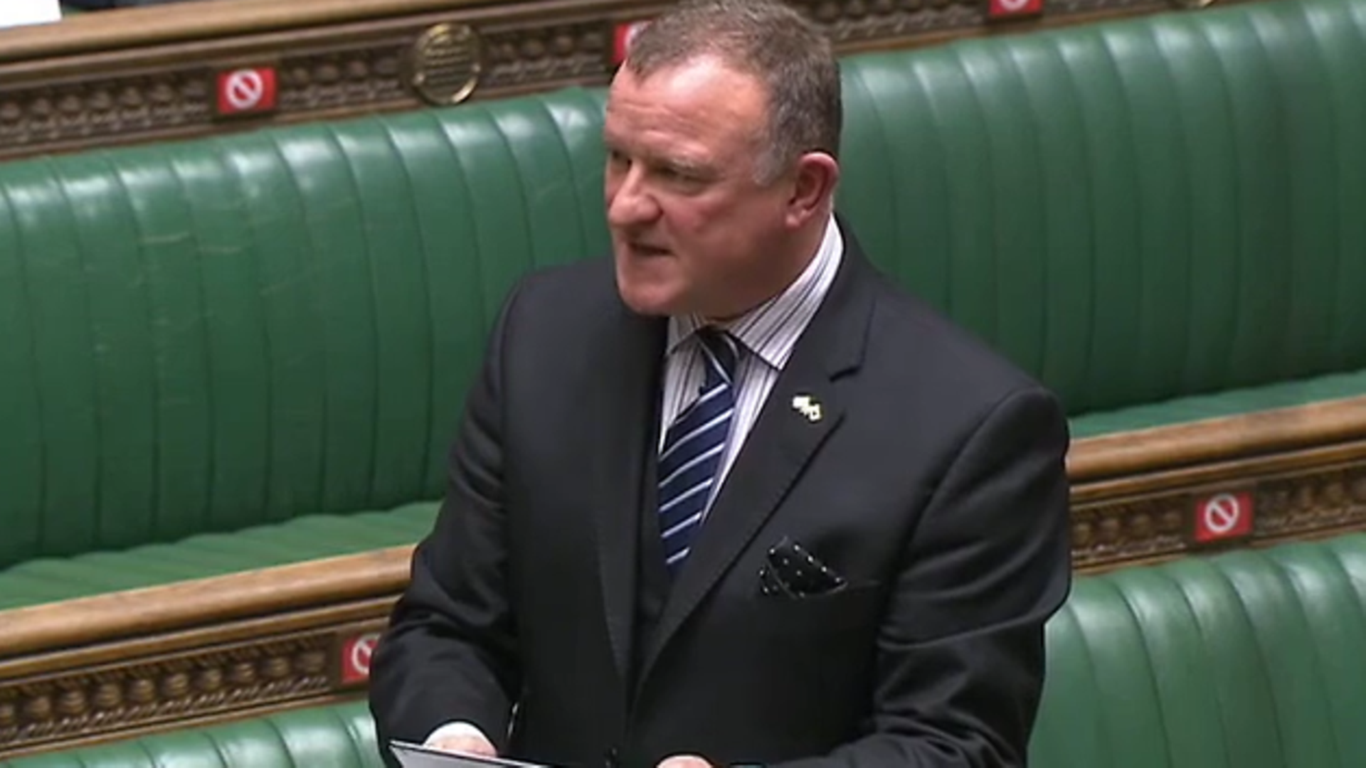 SNP MP Drew Hendry in the House of Commons - Credit: Parliament Live