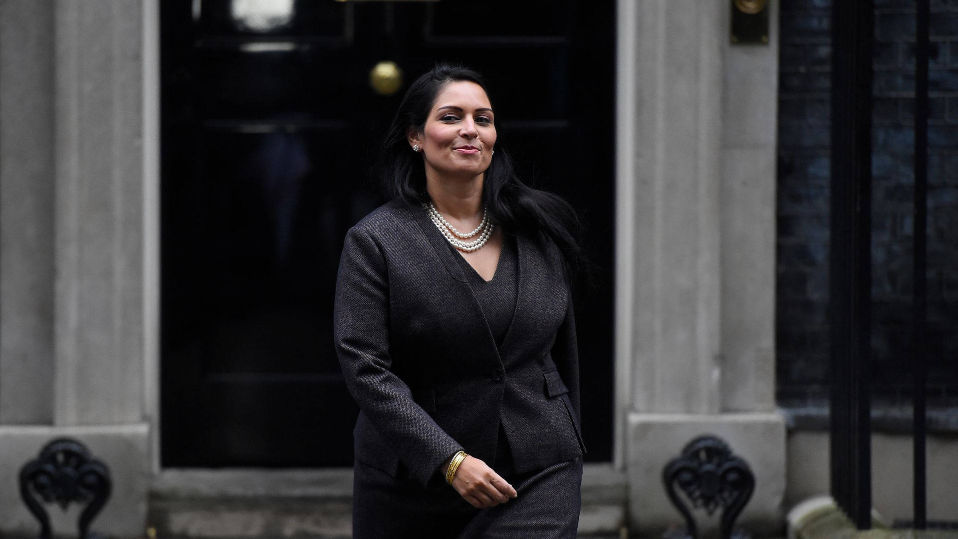 Priti Patel leaving Downing Street, in February 2020 - Credit: Getty Images
