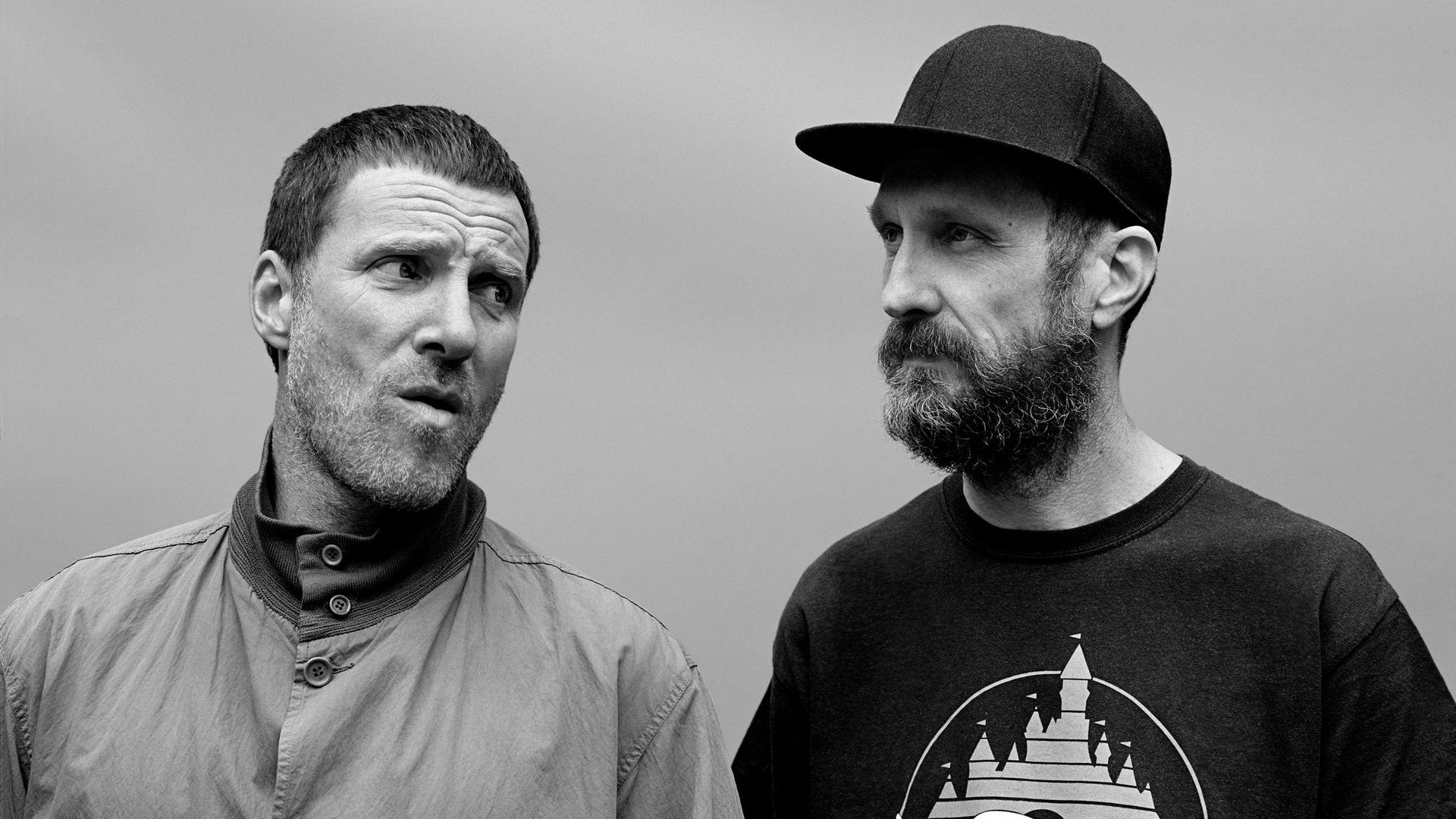Jason Williamson (l) with Sleaford Mods bandmate Andrew Fearn - Credit: Alasdair McLennan