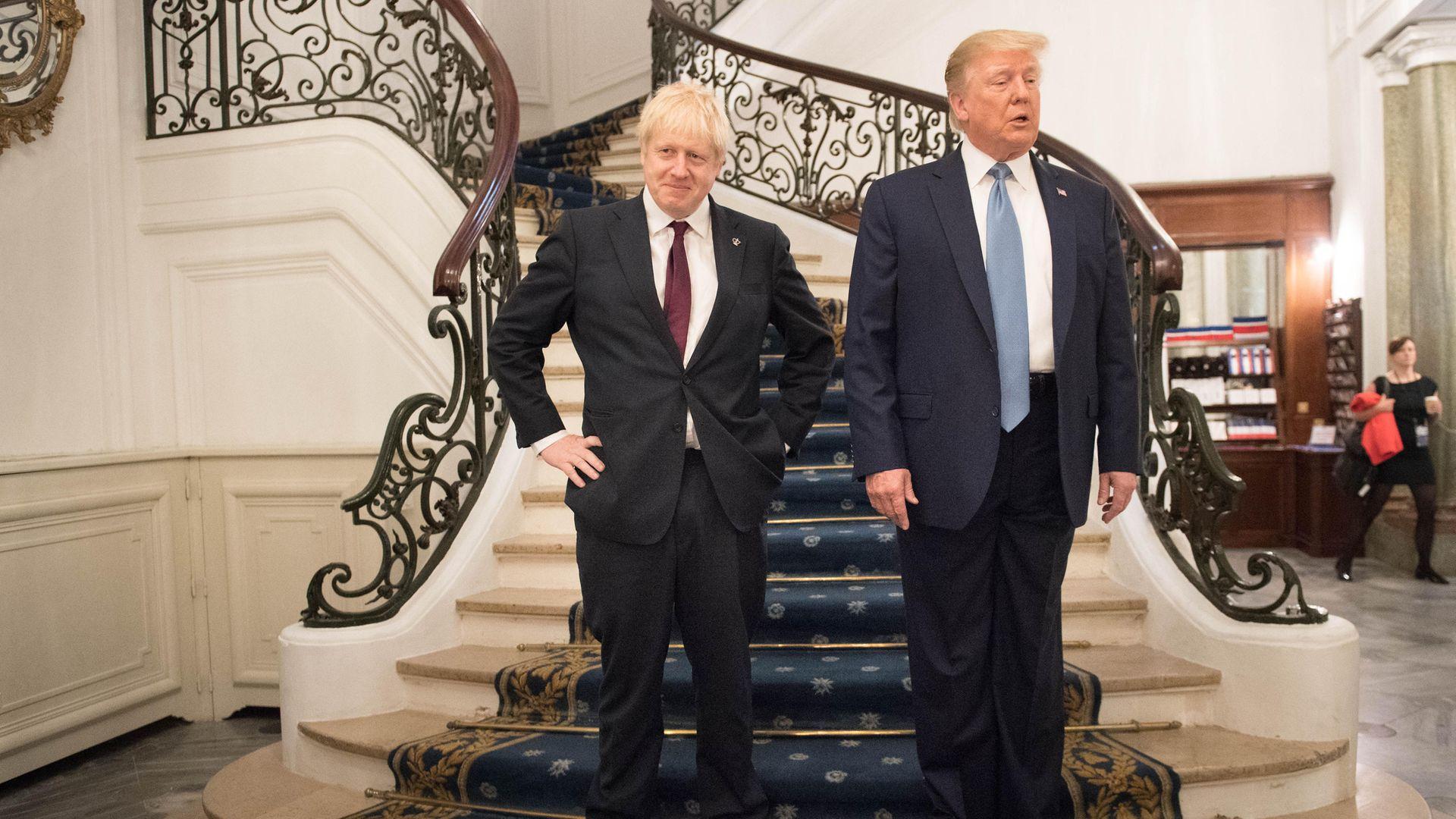 U.S. President Donald Trump and Britain's Prime Minister Boris Johnson - Credit: Getty Images