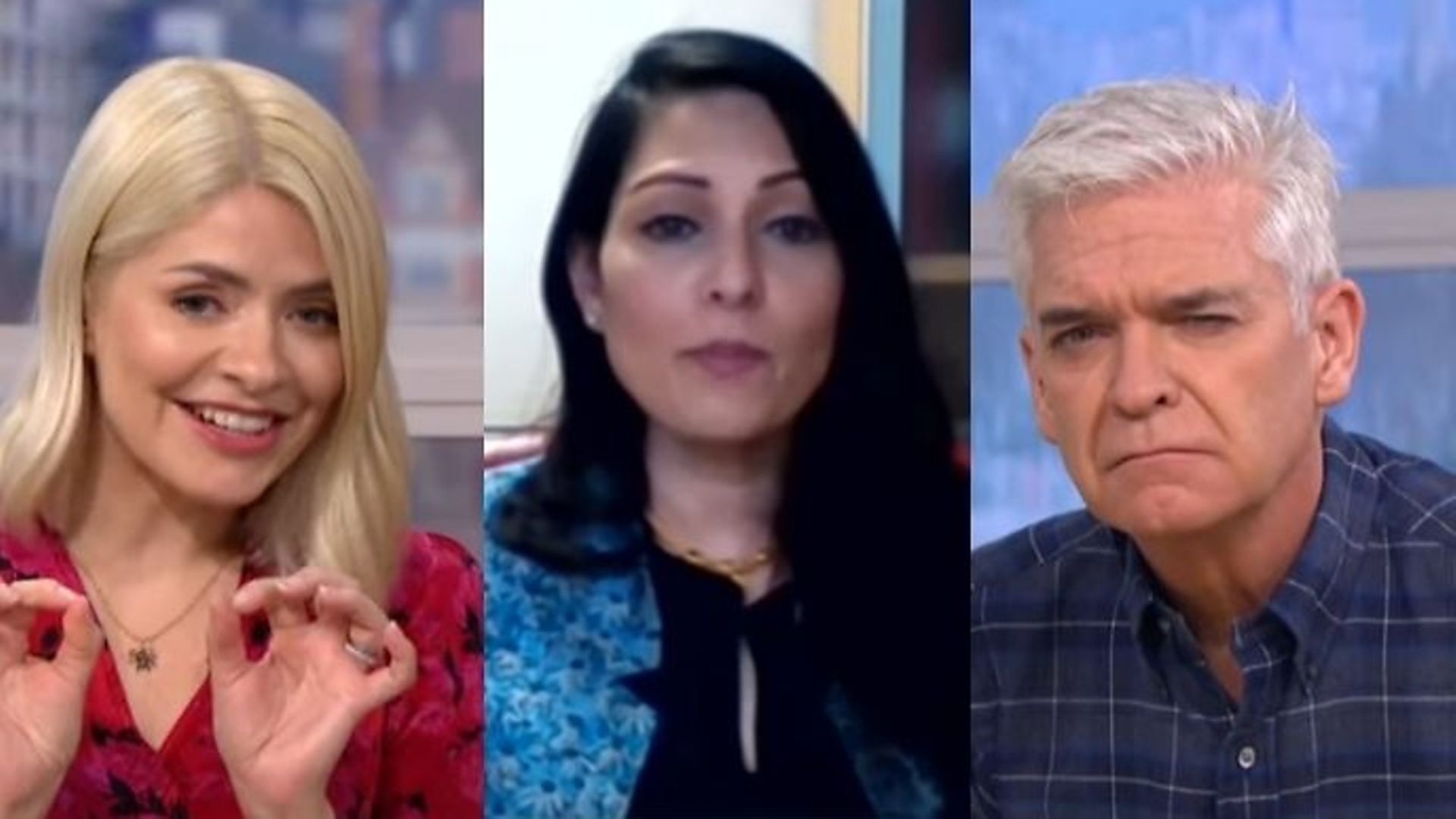 Home secretary Priti Patel appeared to spark more confusion with an appearance on This Morning alongside Philip Schofield and Holly Willoughby. - Credit: ITV