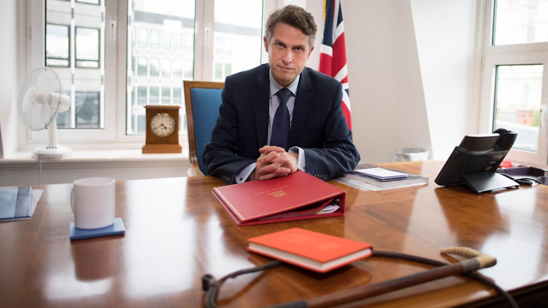 Secretary of State for Education Gavin Williamson in his office at the Department of Education in Westminster. Photograph: Stefan Rousseau/PA Wire. - Credit: PA