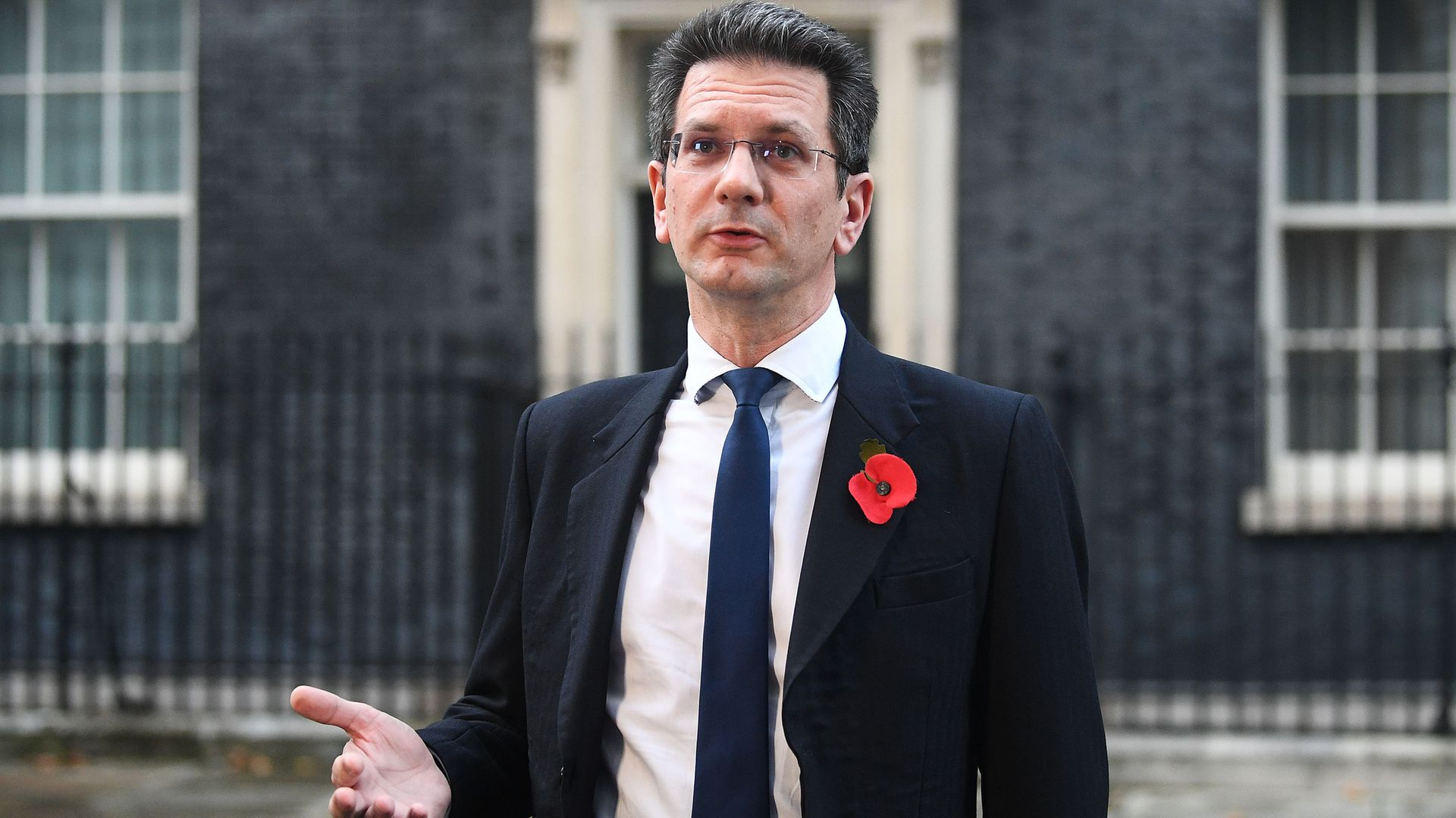 MP for Wycombe, Steve Baker, in Downing Street London, for a Cabinet meeting - Credit: PA