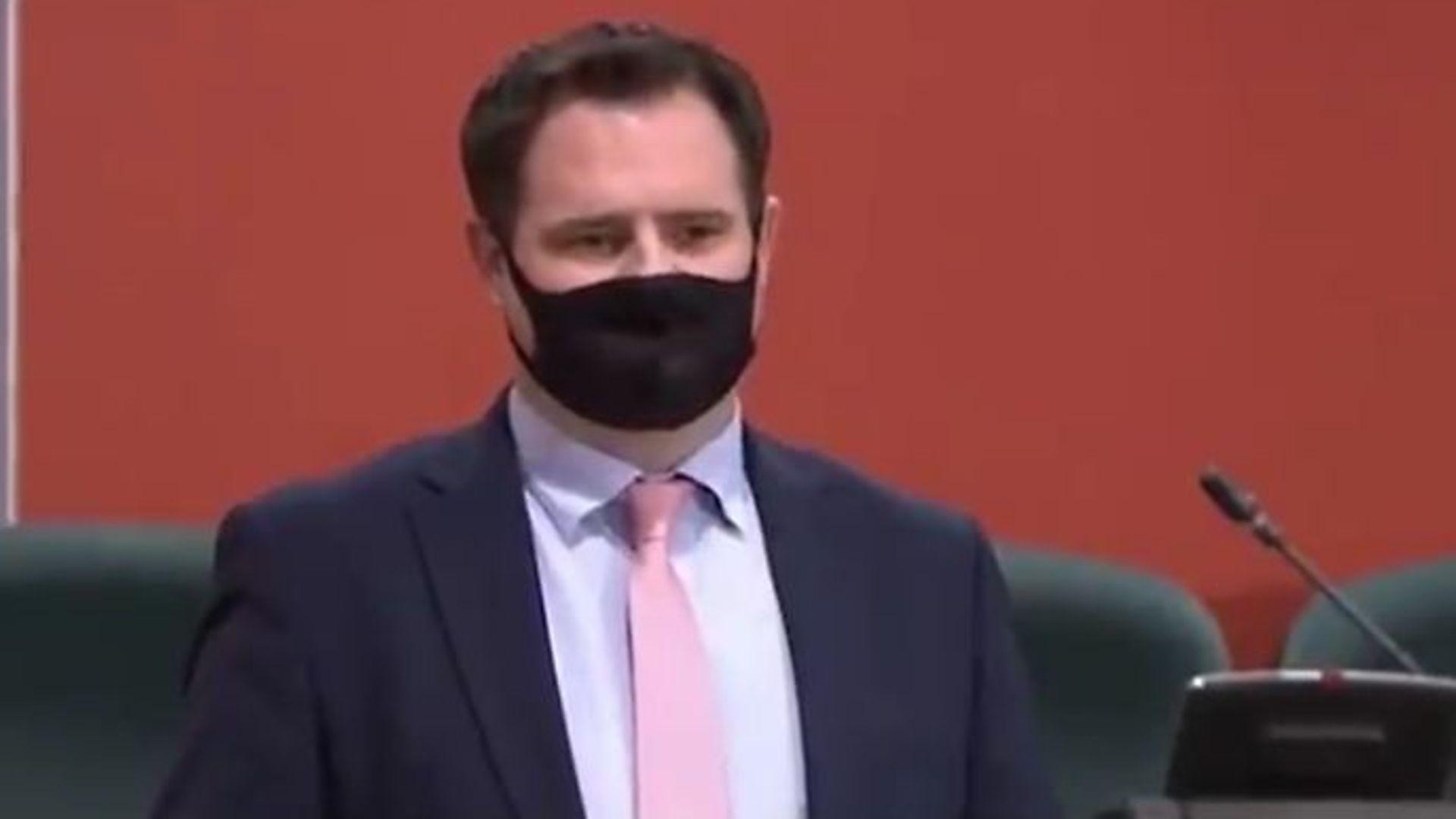 Fine Gael politician Neale Richmond in the Dáil Éireann - Credit: Twitter