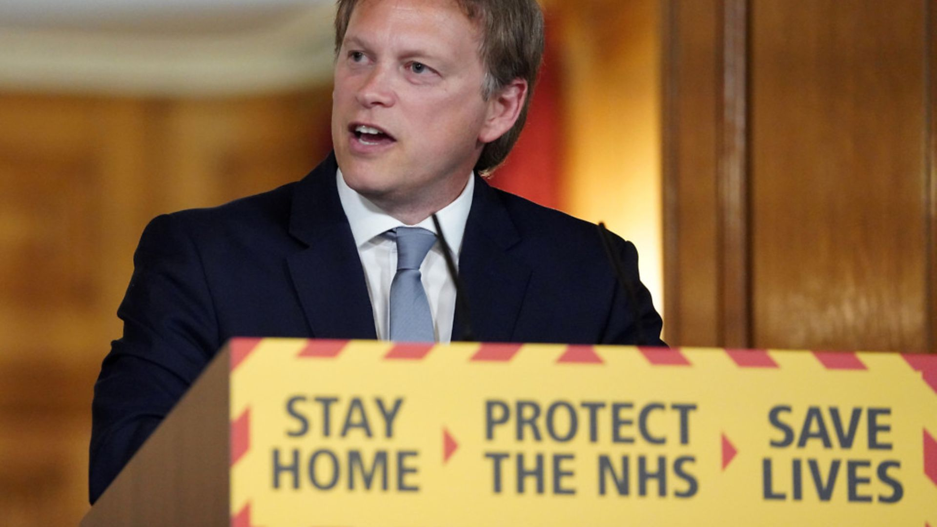 Transport secretary Grant Shapps during a media briefing in Downing Street on coronavirus (COVID-19) - Credit: PA
