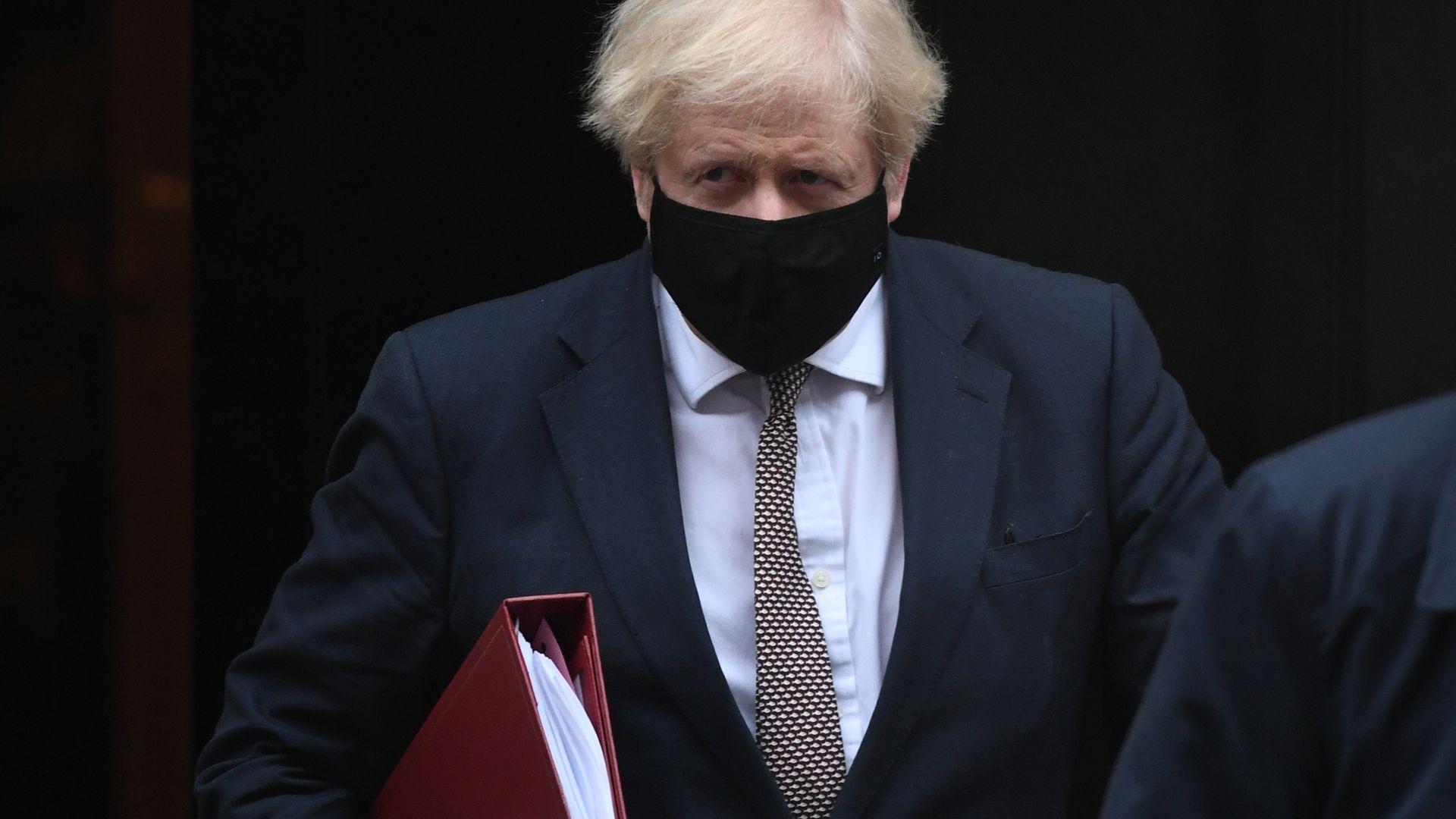 Prime minister Boris Johnson leaves 10 Downing Street - Credit: PA