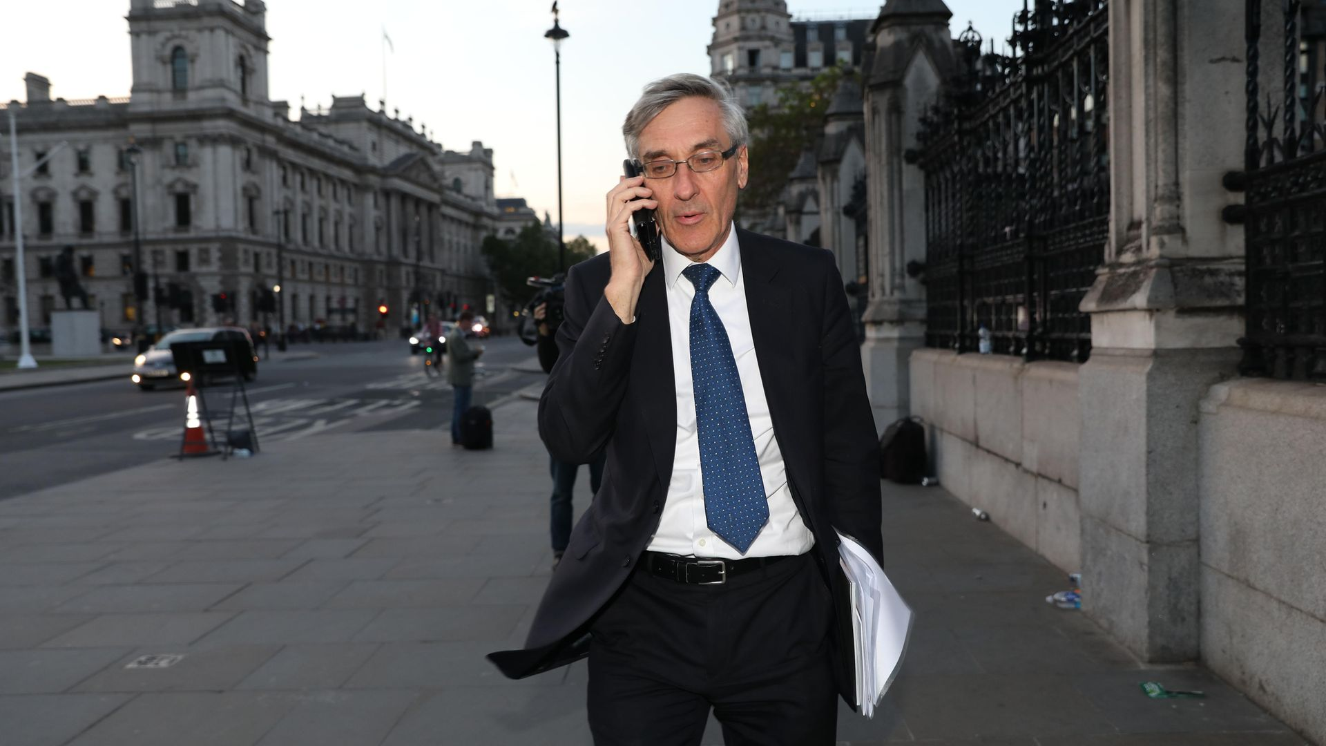 Conservative MP John Redwood leaves the Houses of Parliament in Westminster, London. - Credit: PA