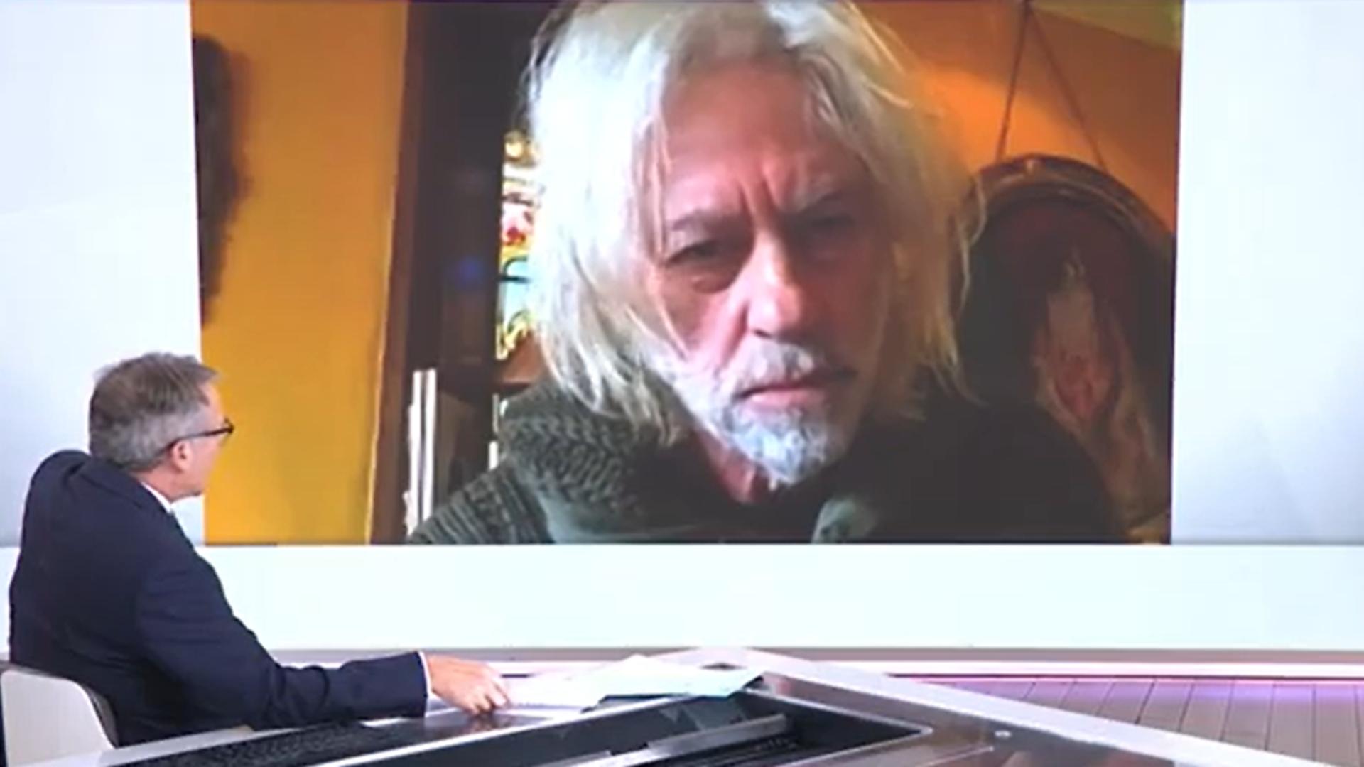 Bob Geldof is interviewed on Sky News - Credit: Sky