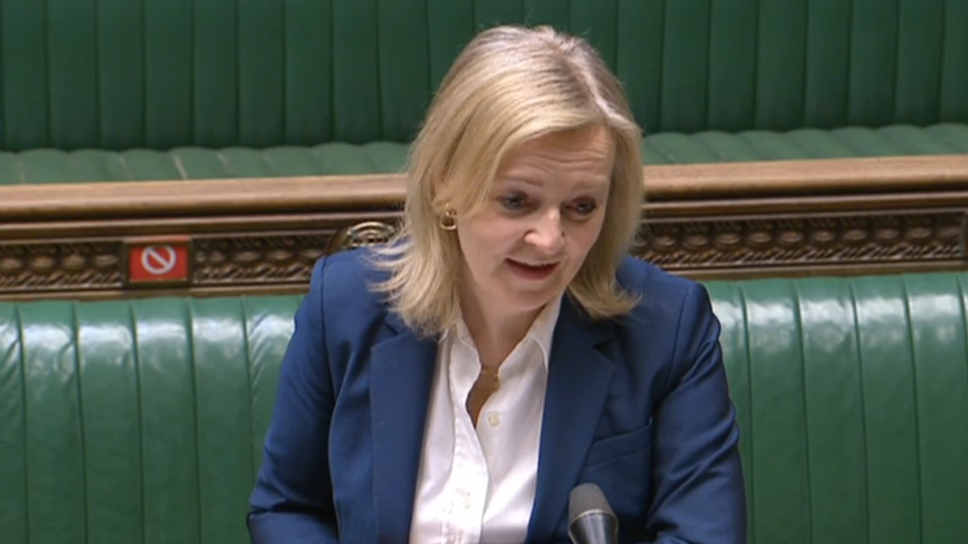Liz Truss in the House of Commons - Credit: Parliament Live
