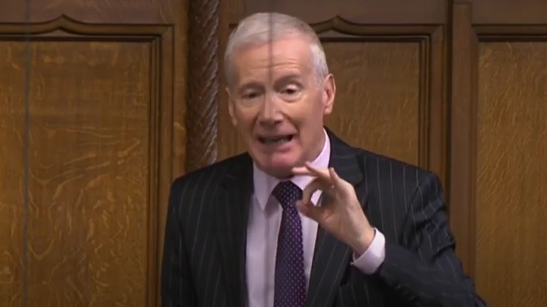 Gregory Campbell in the House of Commons - Credit: Parliament Live