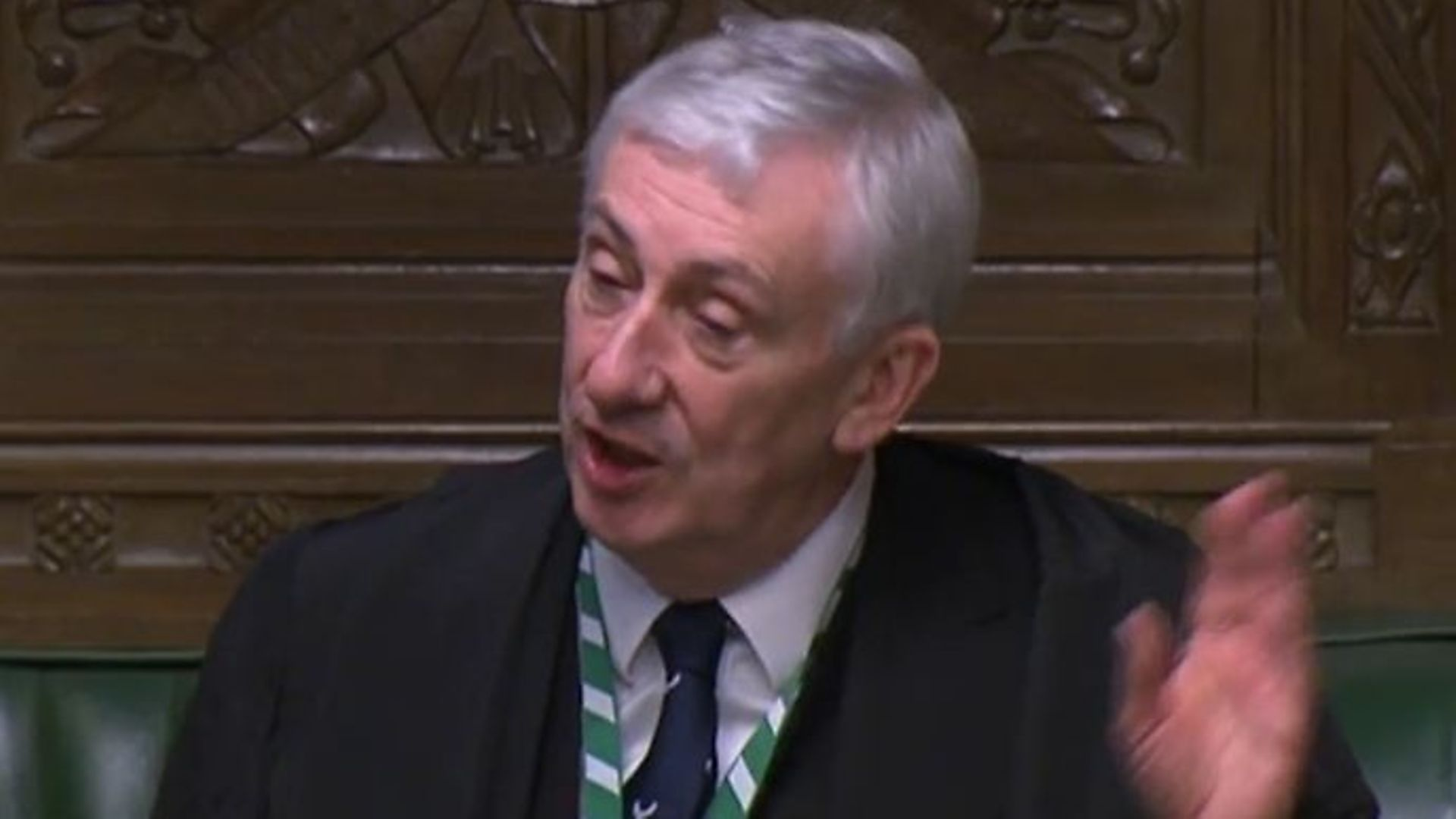 Sir Lindsay Hoyle (pictured above) in the House of Commons - Credit: Parliamentlive.tv