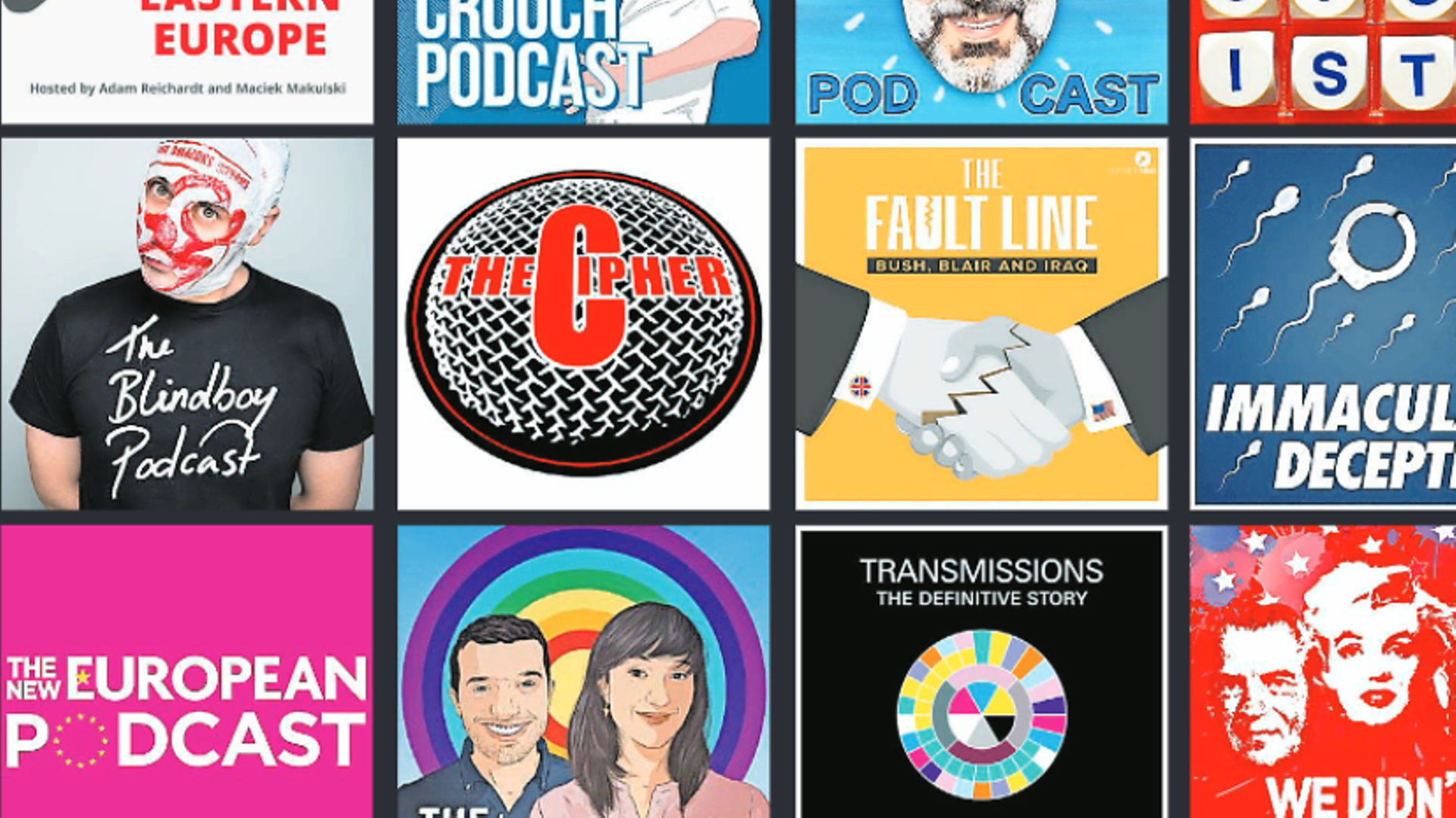 Some of the podcasts featured in our list of the 50 greatest podcasts - Credit: The New European