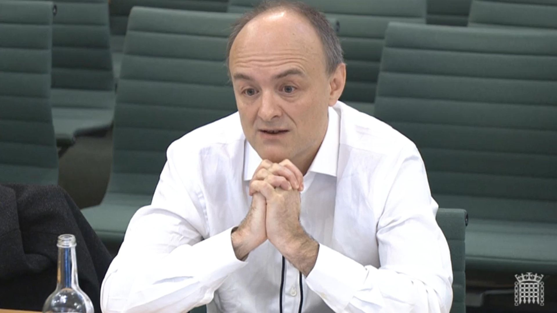 Dominic Cummings giving speaking at the Commons Science and Technology Committee - Credit: PA