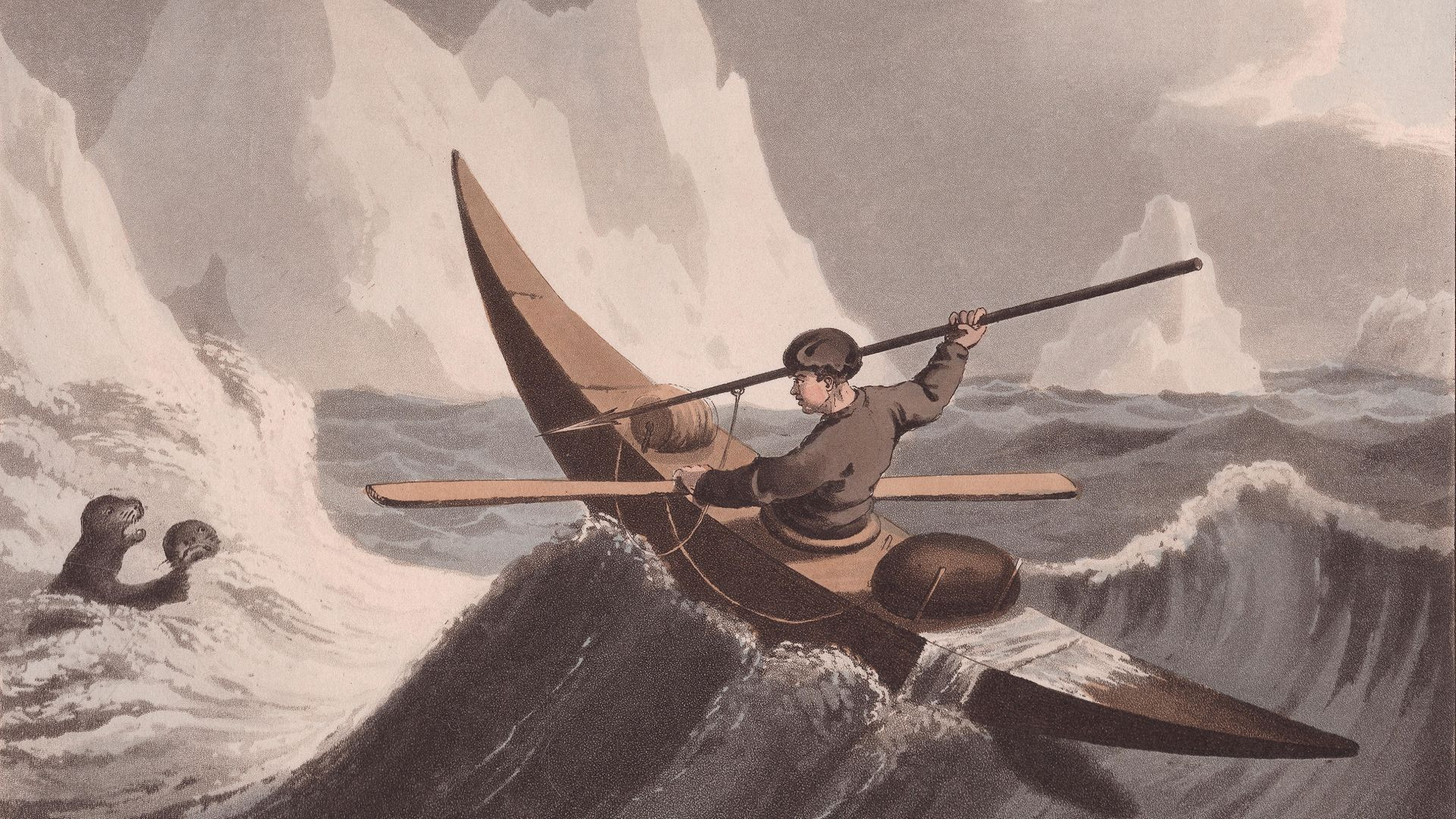 SCOTLAND BOUND? An Inuit hunts a seal off Greenland in a 19th century image - Credit: Corbis via Getty Images