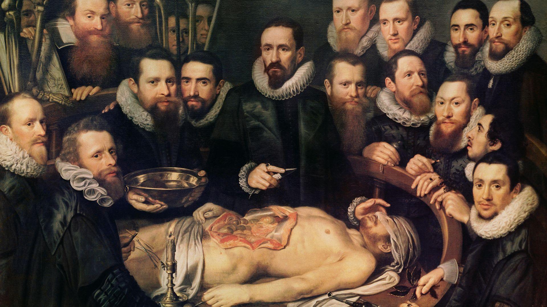 The Anatomy Lesson of Doctor Willem van der Meer in Delft - Credit: Art Images via Getty Images
