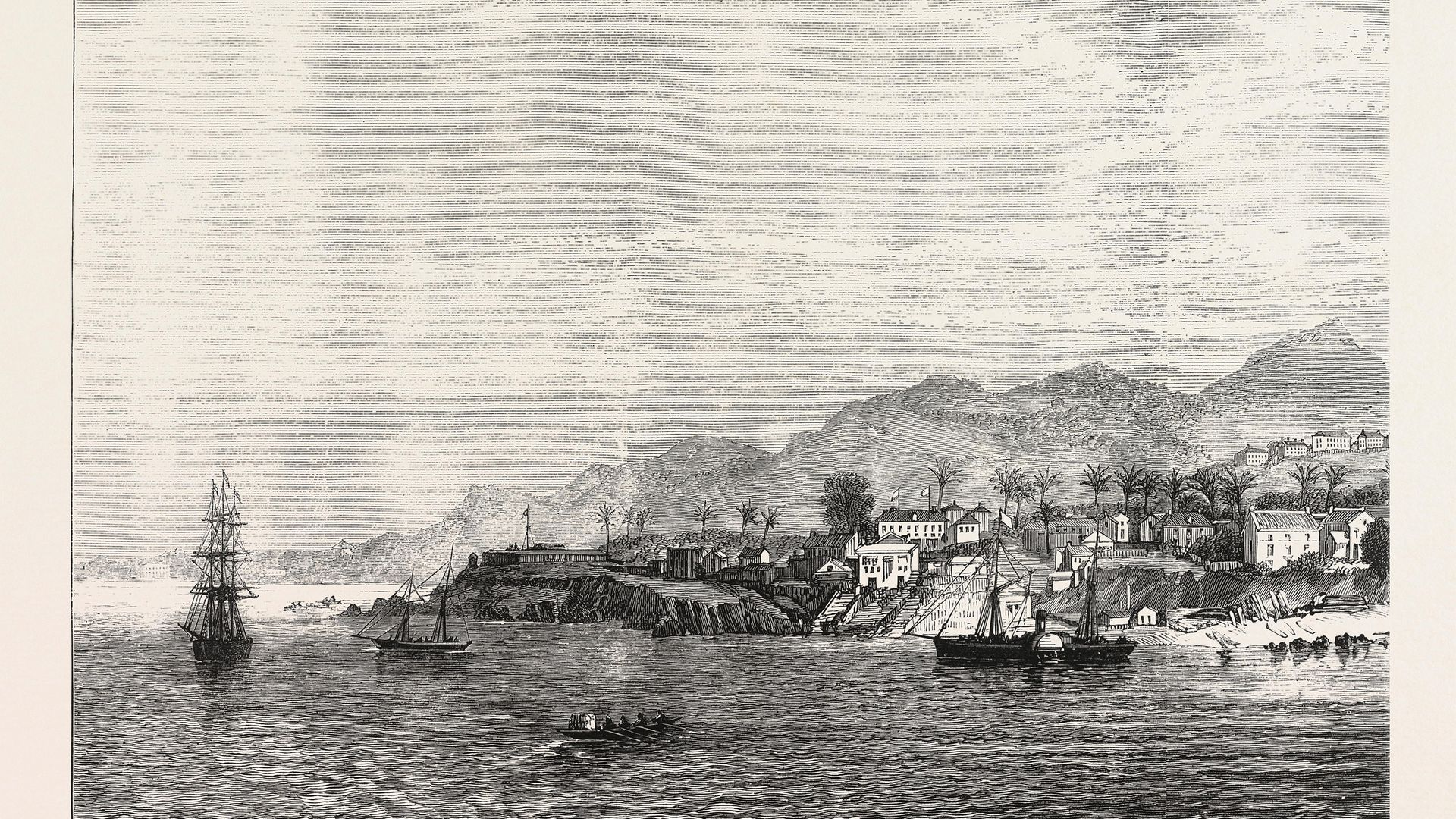 A 19th century image of Freetown, Sierra Leone - Credit: Universal Images Group via Getty