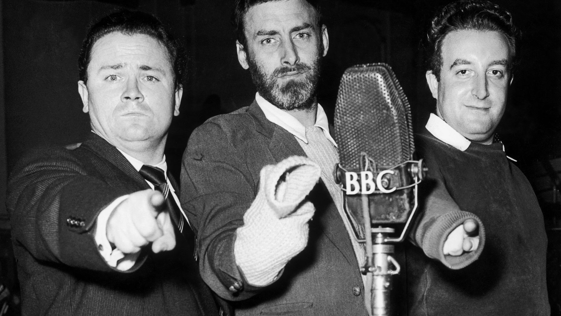 Harry Secombe, Spike Milligan and Peter Sellers, of The Goon Show in the early 1950s - Credit: Gamma-Keystone via Getty Images