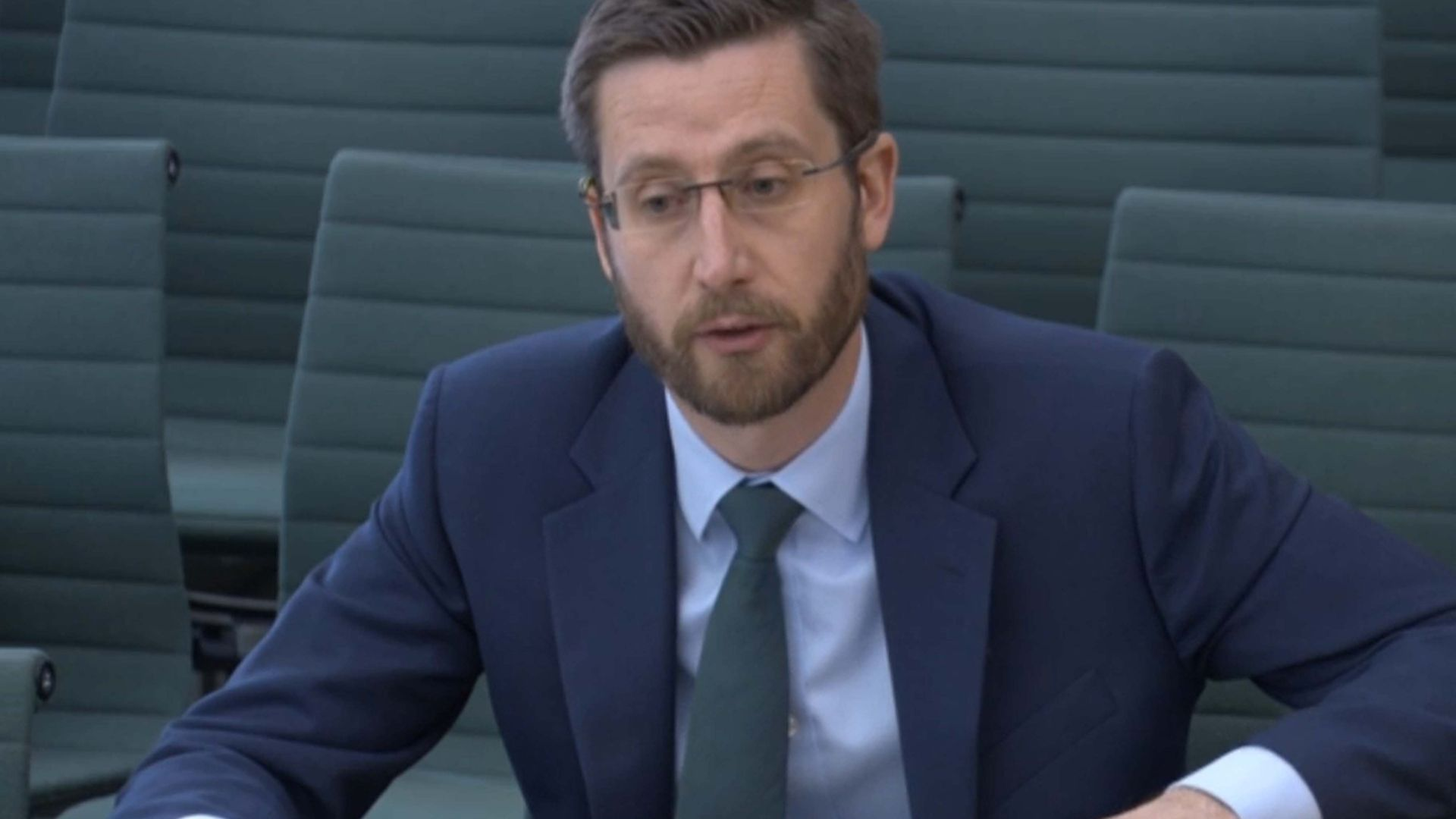 Simon Case, the cabinet secretary and the UK's most senior civil servant, giving evidence on the work of the Cabinet Office to the Commons Public Administration and Constitutional Affairs Committee (PACAC) - Credit: PA