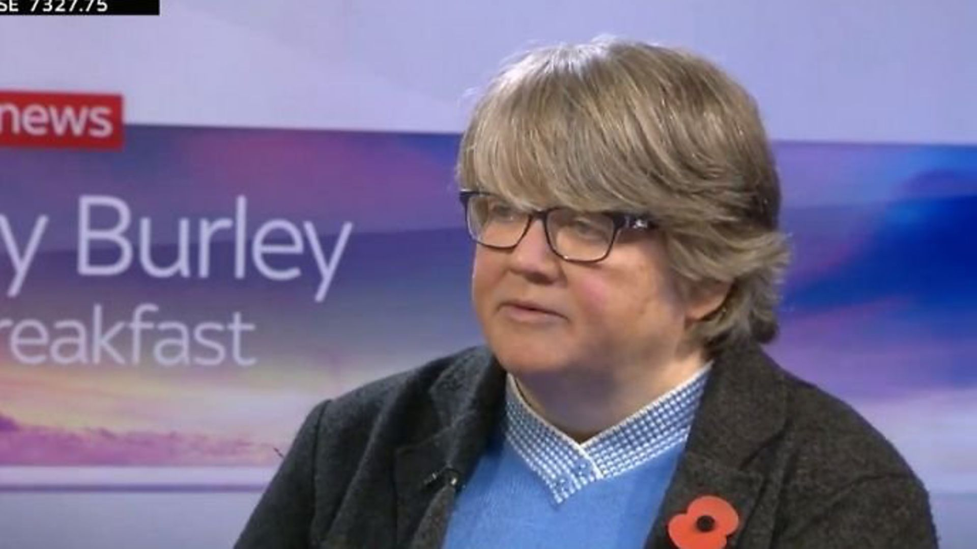 Work and pension minister Therese Coffey said the public was not interested in 'some wallpaper or sofas' in Boris Johnson's flat - Credit: Sky News