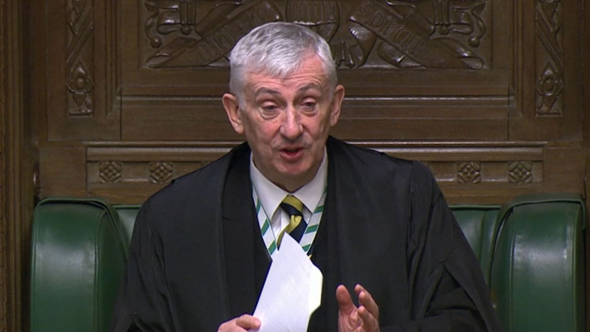 Speaker of the House of Commons Sir Lindsay Hoyle during the debate in the House of Commons - Credit: PA