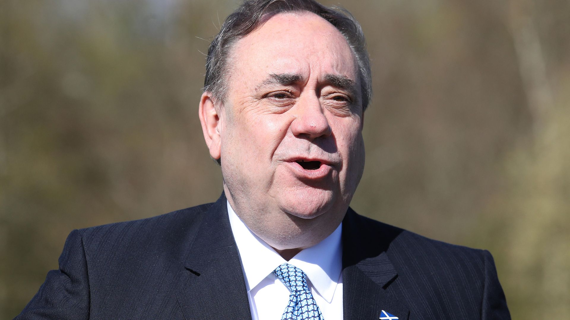 ALBA Party leader Alex Salmond at their party manifesto launch at the Falkirk Wheel in Falkirk - Credit: PA