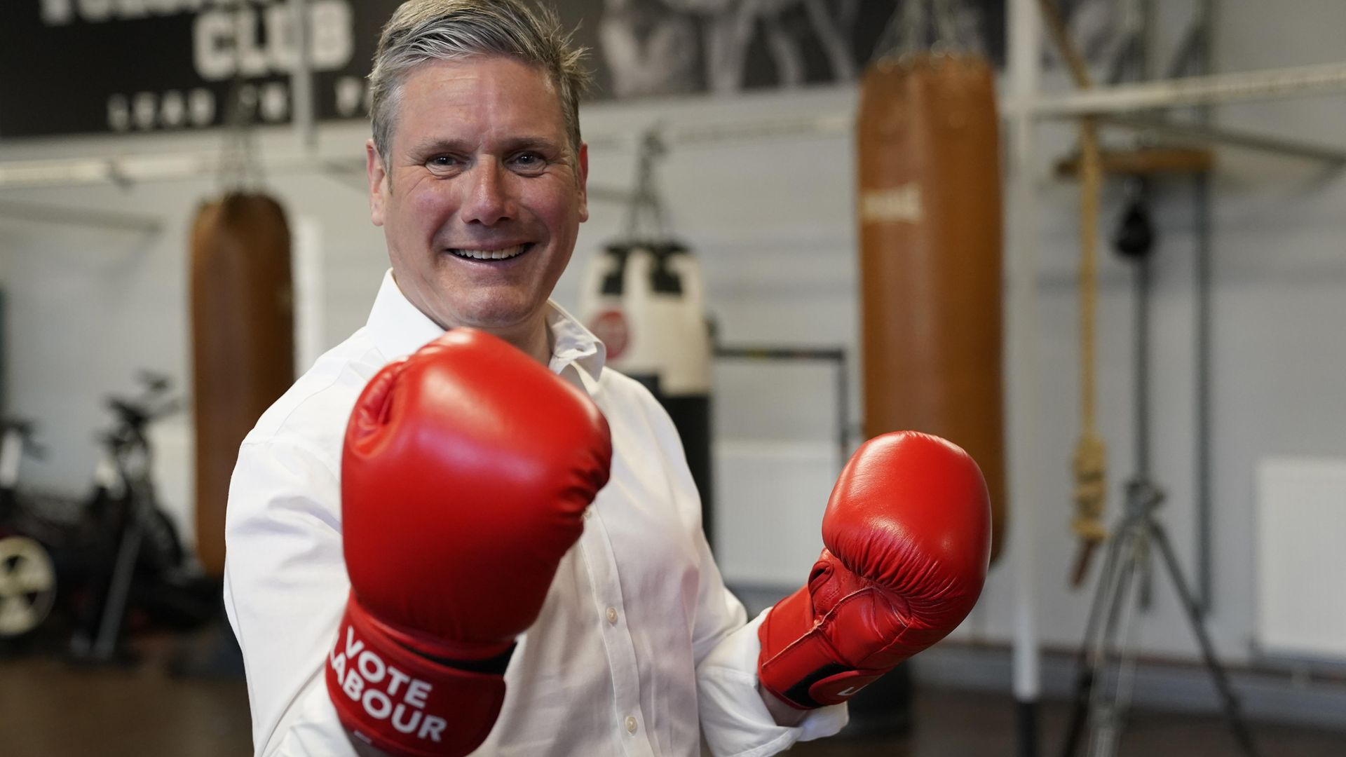 Labour leader Keir Starmer during a visit to the Vulcan Boxing Club in Hull, East Yorkshire - Credit: PA