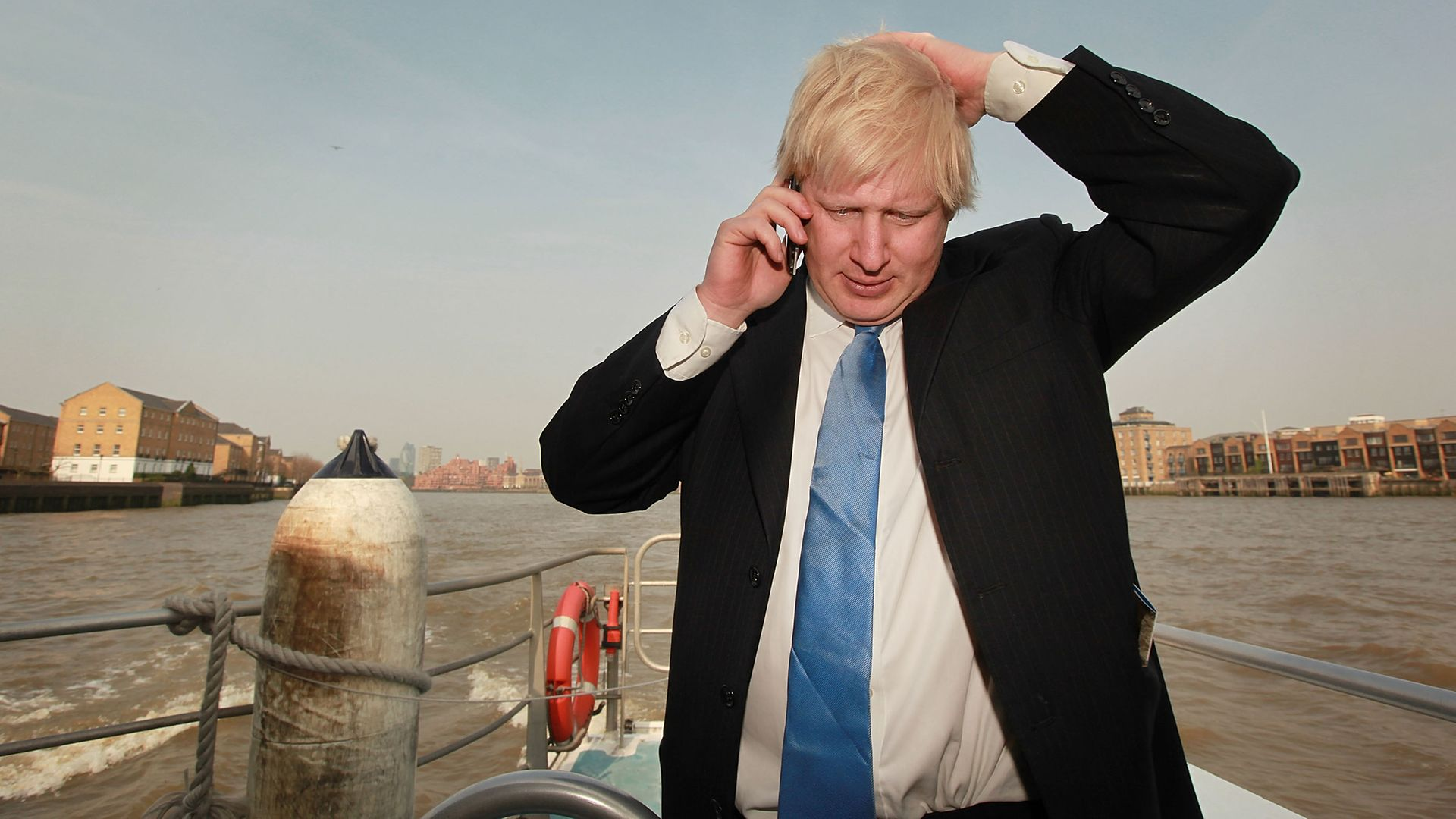 Boris Johnson on his mobile phone, while mayor of London in 2009 - Credit: Getty Images