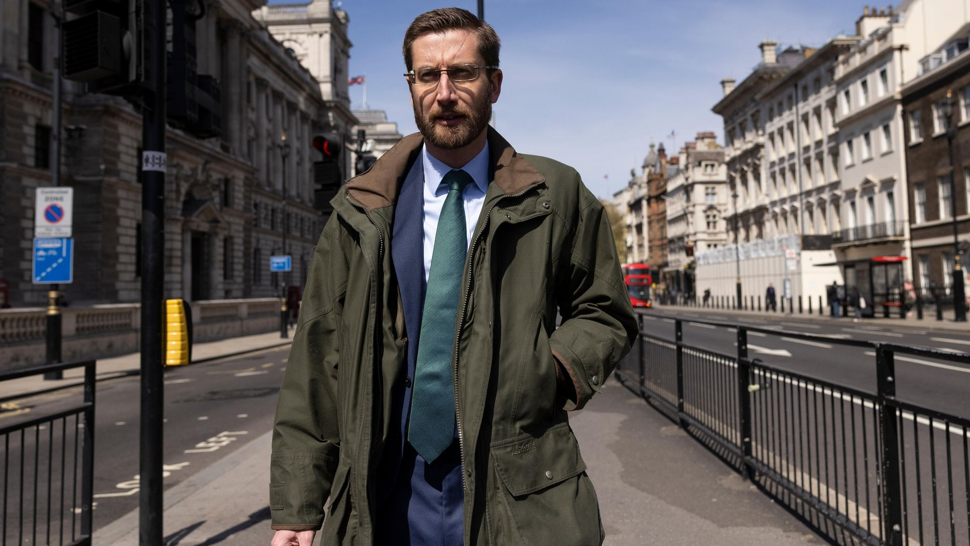 Cabinet secretary Simon Case walks through Westminster, on his way to the committee hearing which saw him criticised for giving uninformative, straight-bat responses about Boris Johnson's flat refurbishment and the 'chatty rat' leak inquiry - Credit: Getty Images