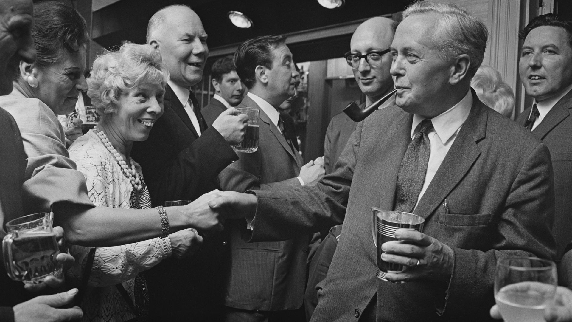 Harold Wilson opening the Bermondsey Labour Club, London, 1967 - Credit: Getty Images