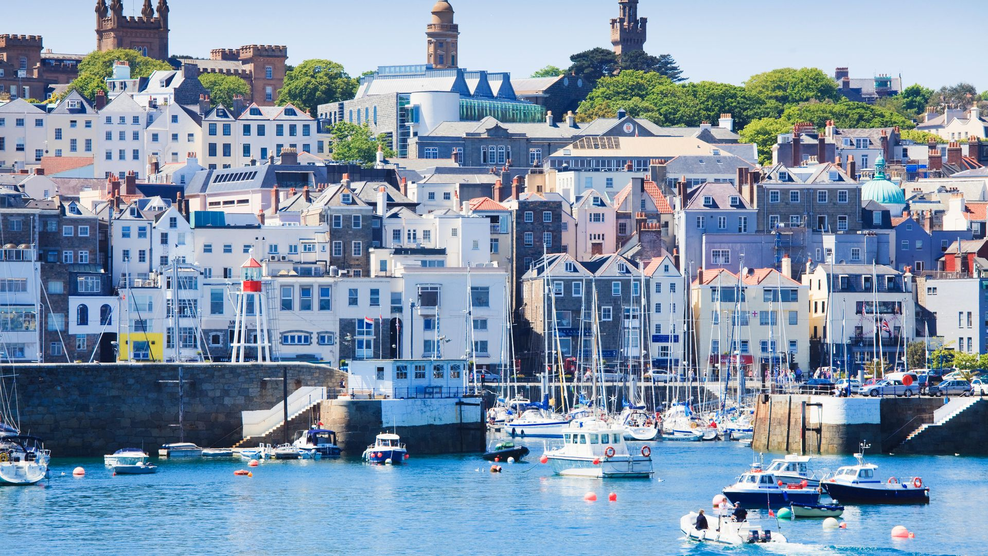 The harbour of St. Peter Port, Guernsey, Channel Islands, United Kingdom - Credit: Getty Images