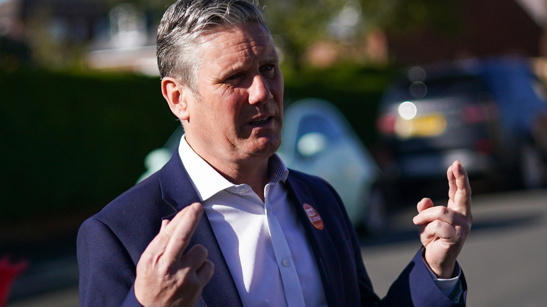Labour leader Sir Keir Starmer visits St Mary's Community Centre in Pontefract, West Yorkshire, to meet with community workers and ex-miners during campaigning for the election for West Yorkshire mayor - Credit: PA