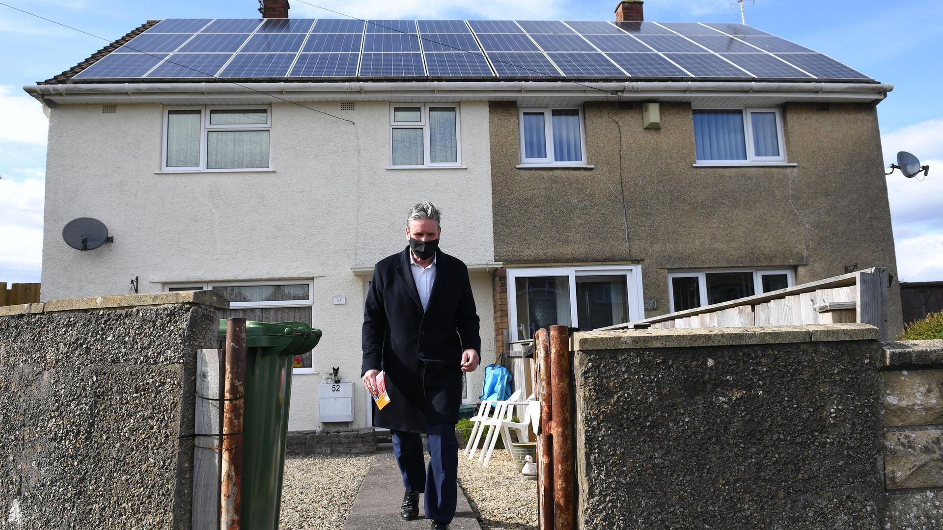 Leader of the Labour Party Sir Keir Starmer door to door canvassing in Keynsham, Somerset, whilst on the election campaign trail - Credit: PA