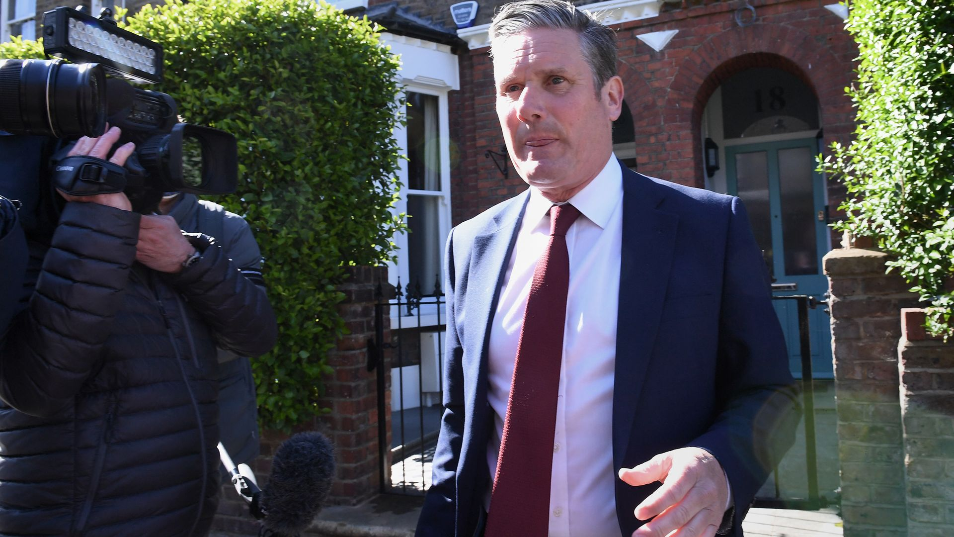 Labour leader Sir Keir Starmer leaving his north London home following the result in the Hartlepool parliamentary by-election - Credit: PA