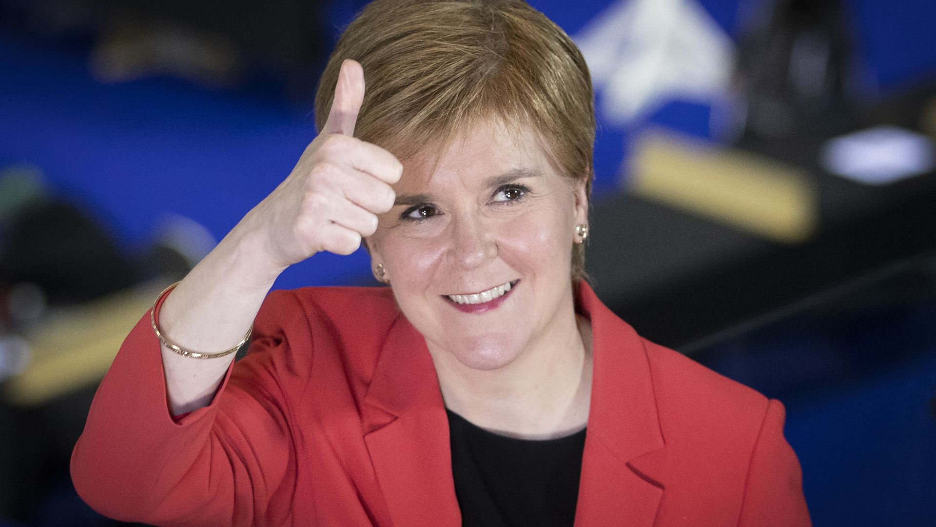 First Minister and SNP party leader Nicola Sturgeon at the count for the Scottish Parliamentary Elections - Credit: PA