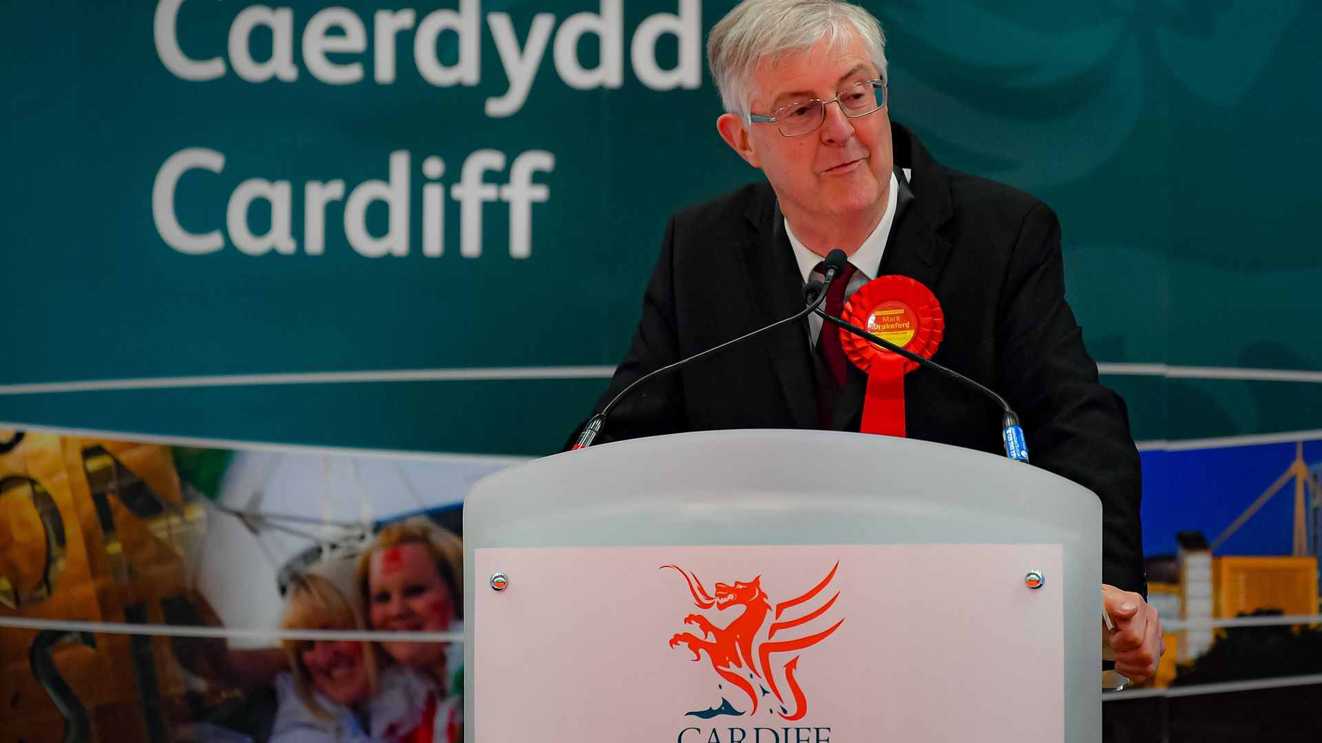 Welsh First Minister Mark Drakeford is elected as Cardiff West MS, after counting votes for the Welsh Parliamentary Elections - Credit: PA