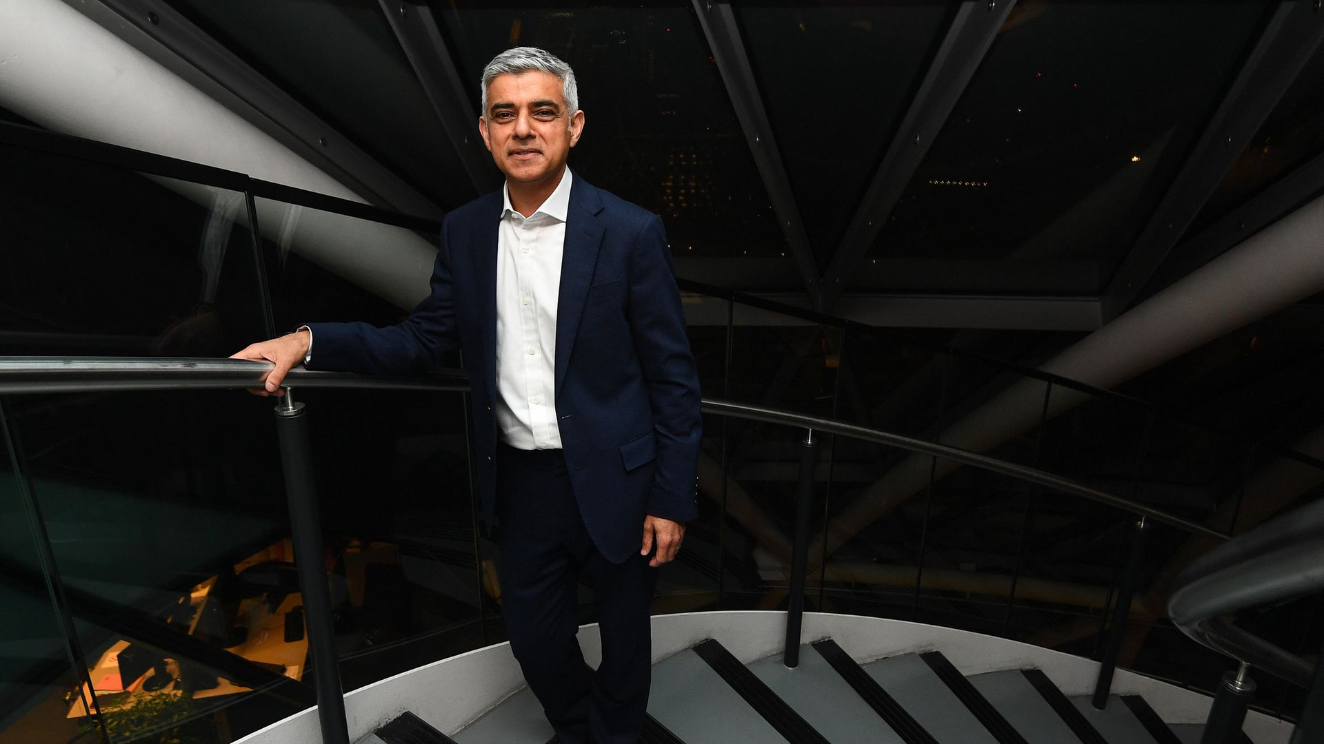 Labour's Sadiq Khan arriving at City Hall, London, for the declaration of Mayor of London - Credit: PA