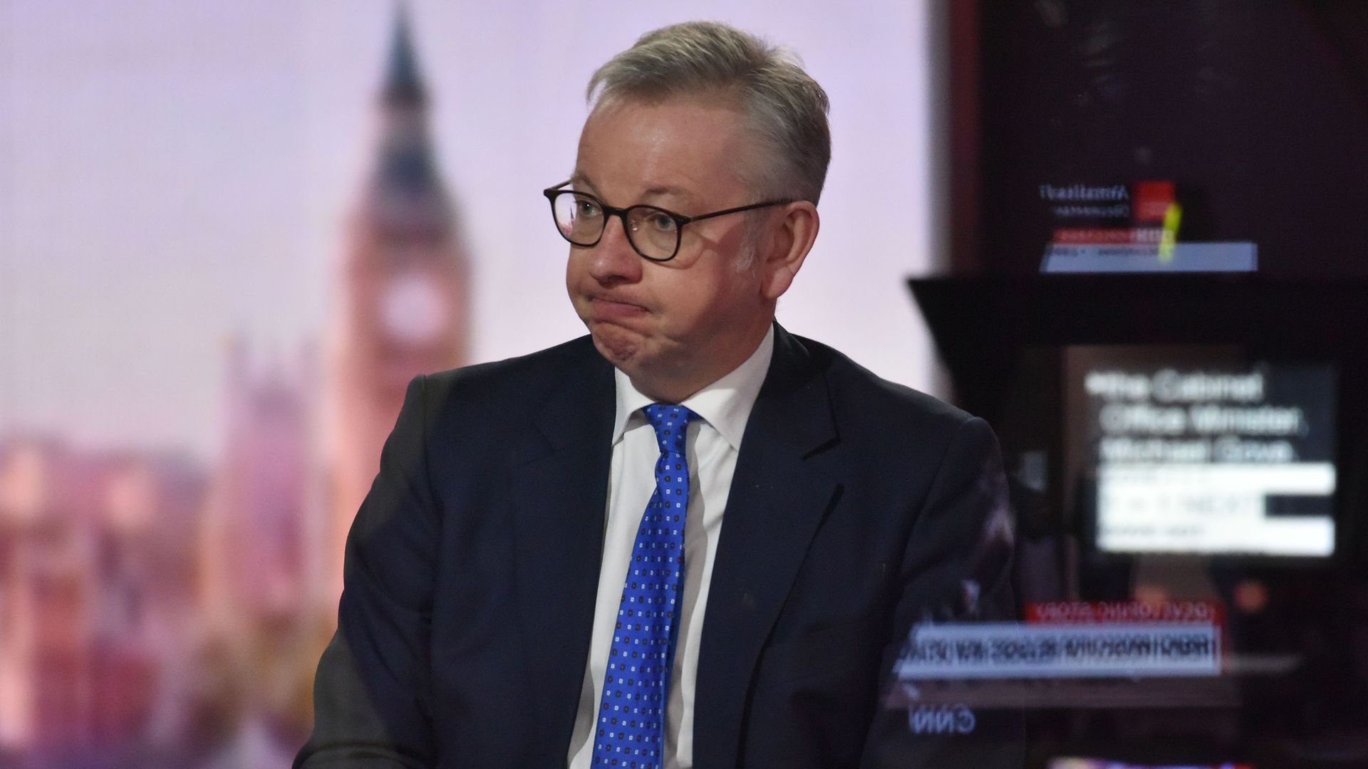 Cabinet Office minister Michael Gove appearing on the BBC1 current affairs programme, The Andrew Marr Show. - Credit: PA