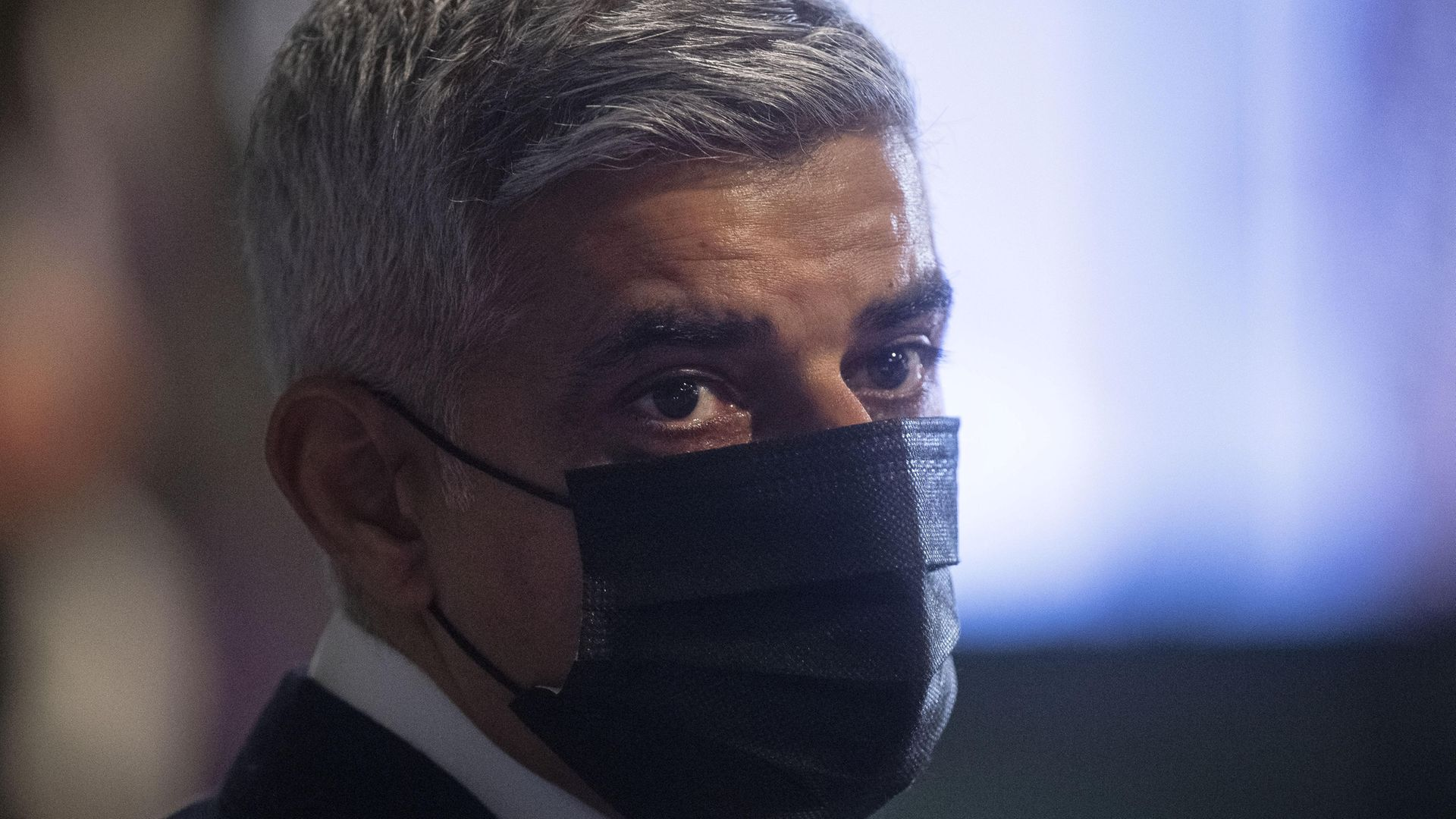 Labour's Sadiq Khan at City Hall, London, for the declaration for the next mayor of London - Credit: PA