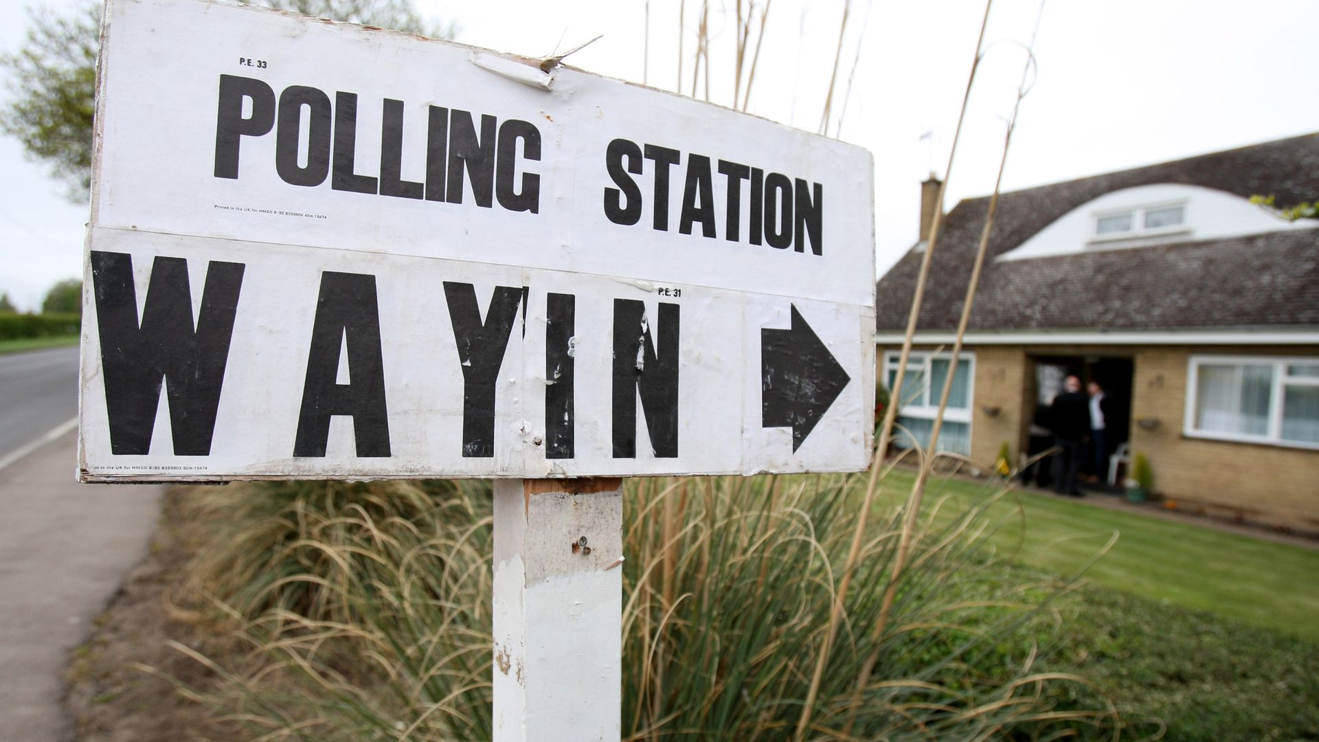 The Bungalow, in Chettisham, Ely, Cambridgeshire where voting was under way on Thursday at one of the UK's most homely polling stations. - Credit: PA