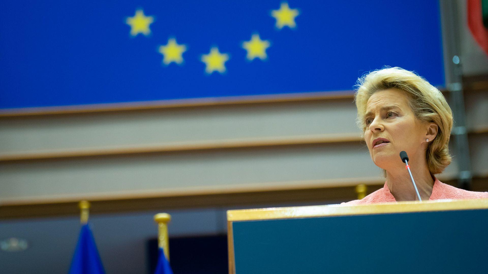 EU Commission president Ursula von der Leyen - Credit: European Parliament