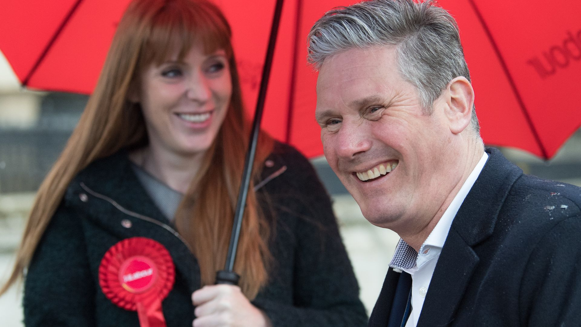 Leader of the Labour Party Sir Keir Starmer and Labour Deputy Leader, Angela Rayner (far right) during a visit to Birmingham - Credit: PA