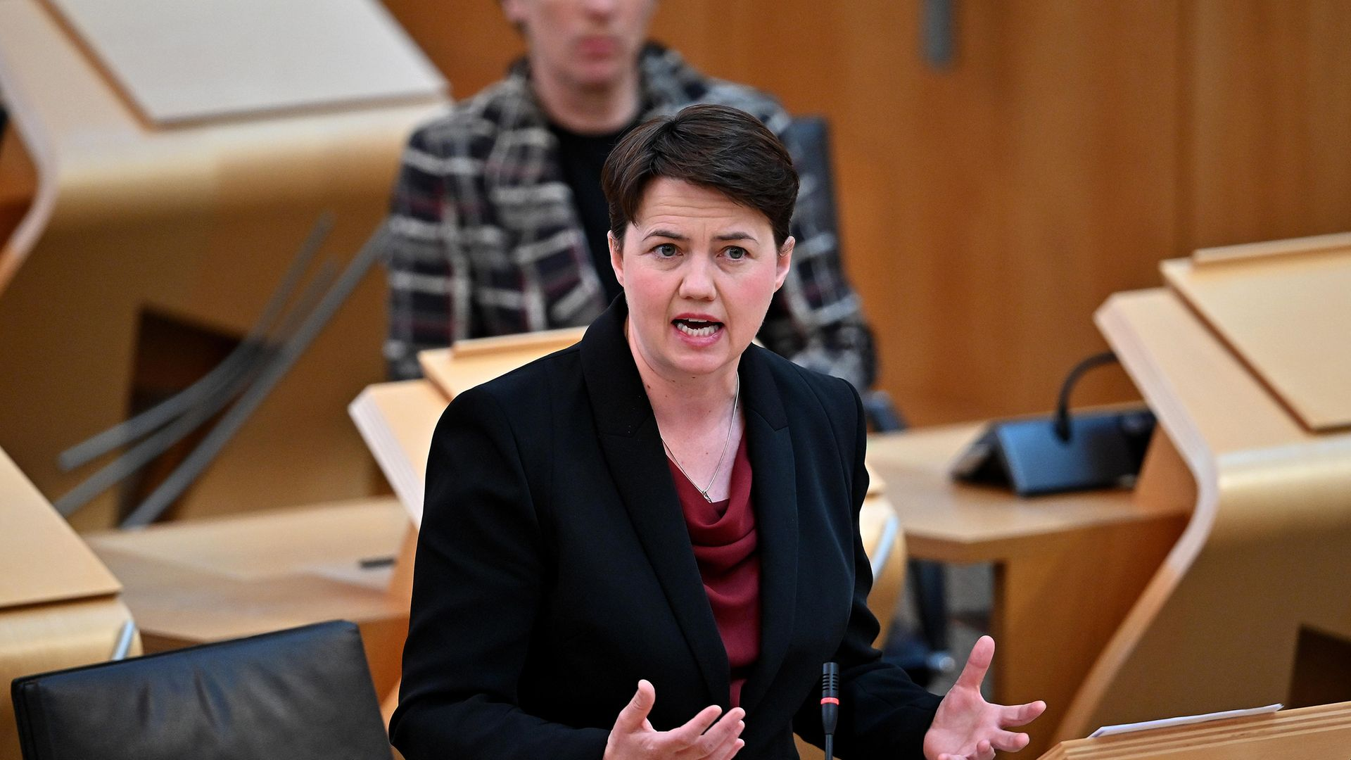 Ruth Davidson branded the government's voter ID proposals as 'total b*****ks' - Credit: PA