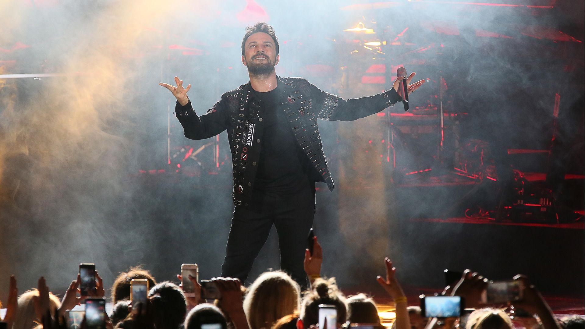 Turkish singer Tarkan during a concert in Moscow in 2019 - Credit: Vladimir Gerdo/TASS