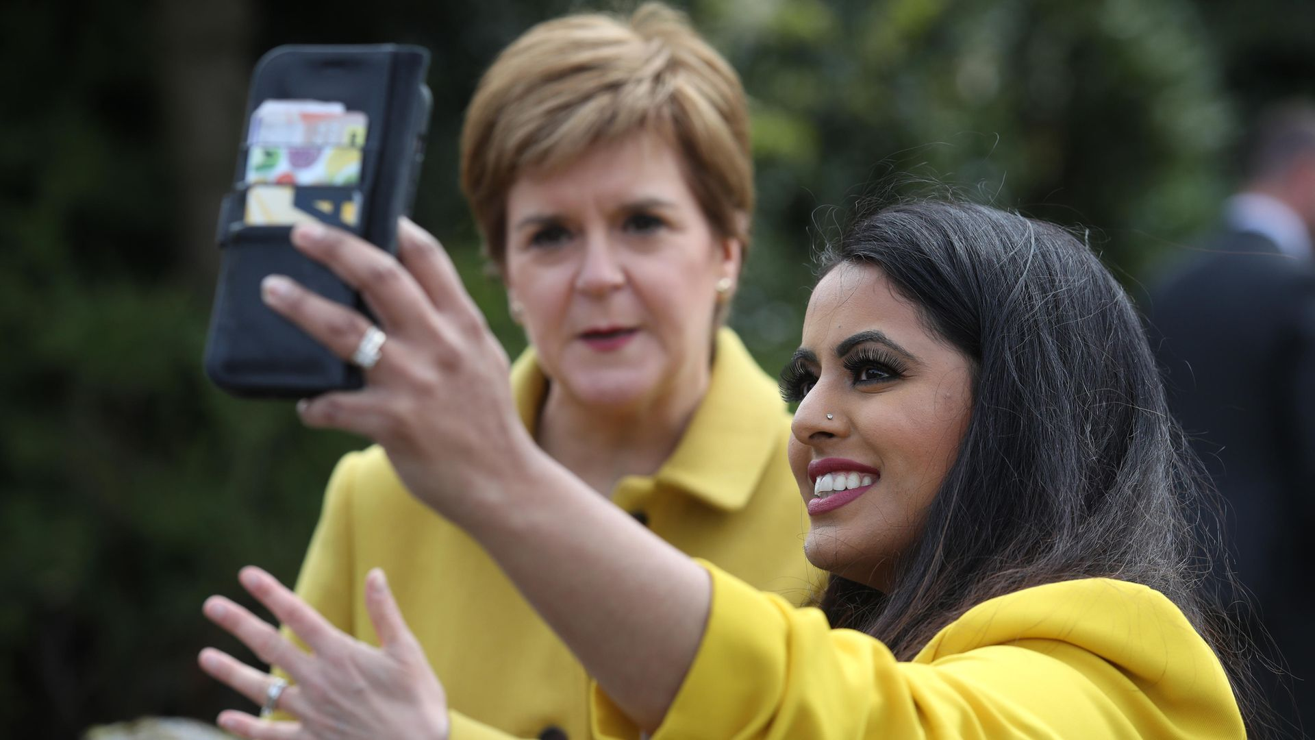 Nicola Sturgeon with Anum Qaisar-Javed, the SNP candidate for the Airdrie and Shotts by-election - Credit: PA