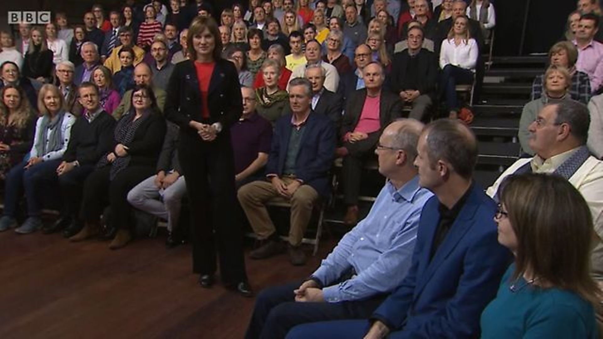 Fiona Bruce introduces Question Time - Credit: BBC