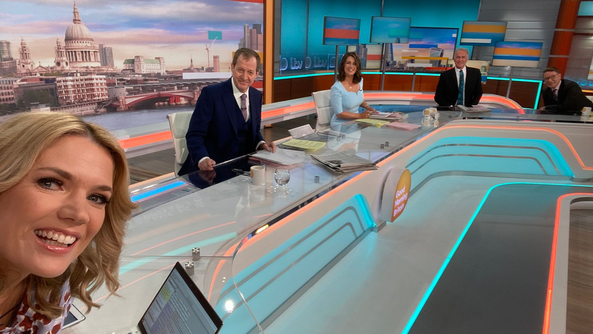 Alastair Campbell guest presents Good Morning Britain - Credit: Twitter