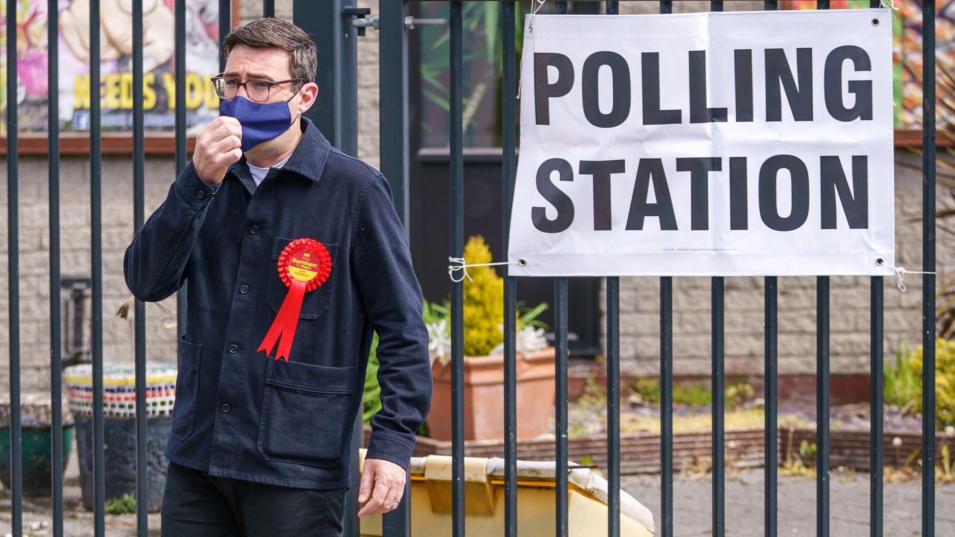 Mayor of Greater Manchester Andy Burnham leaves Golborne Library, Golborne, Warrington - Credit: PA