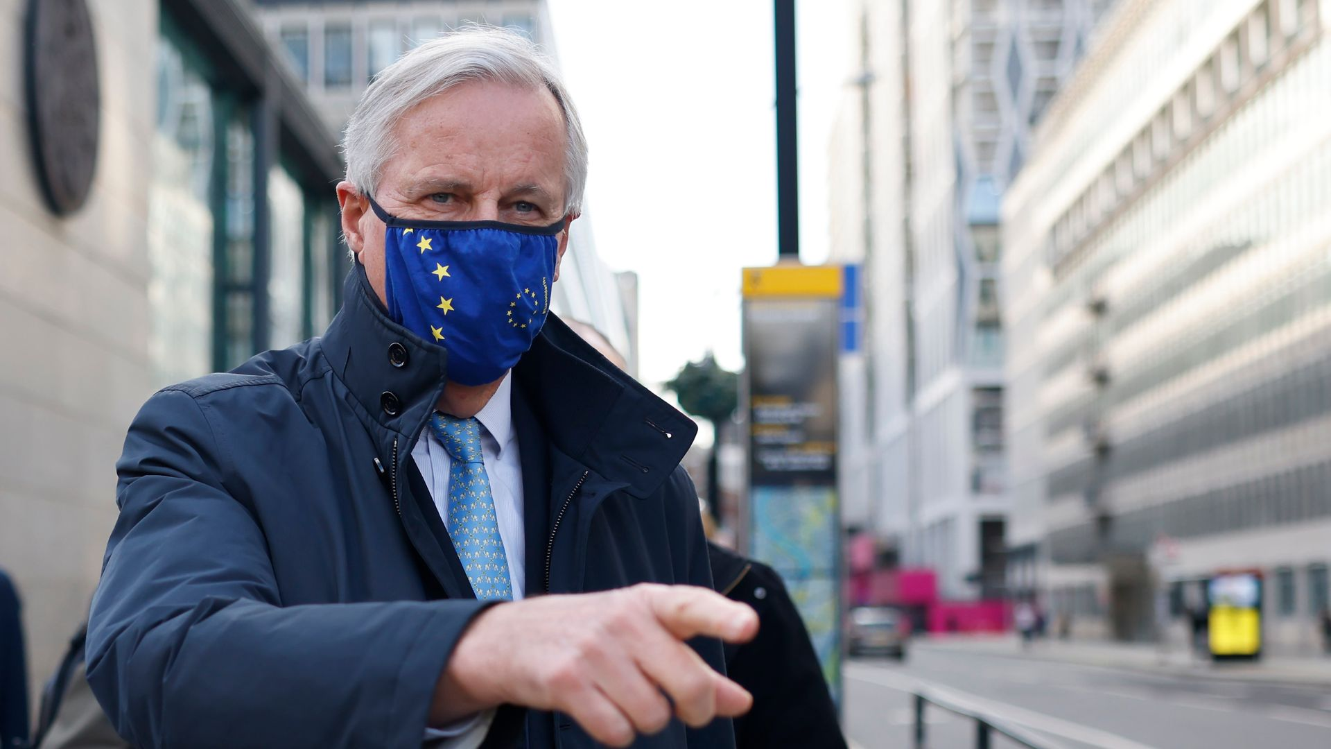 Michel Barnier in London for talks before the Brexit deal was reached - Credit: AFP via Getty Images
