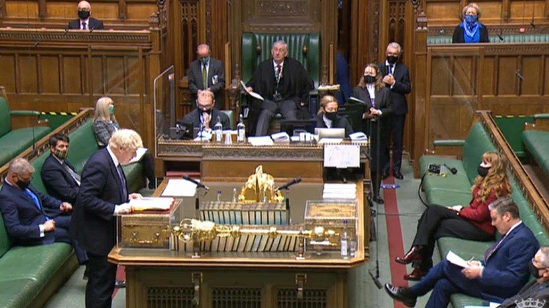 Prime Minister Boris Johnson speaks during Prime Minister's Questions - Credit: PA